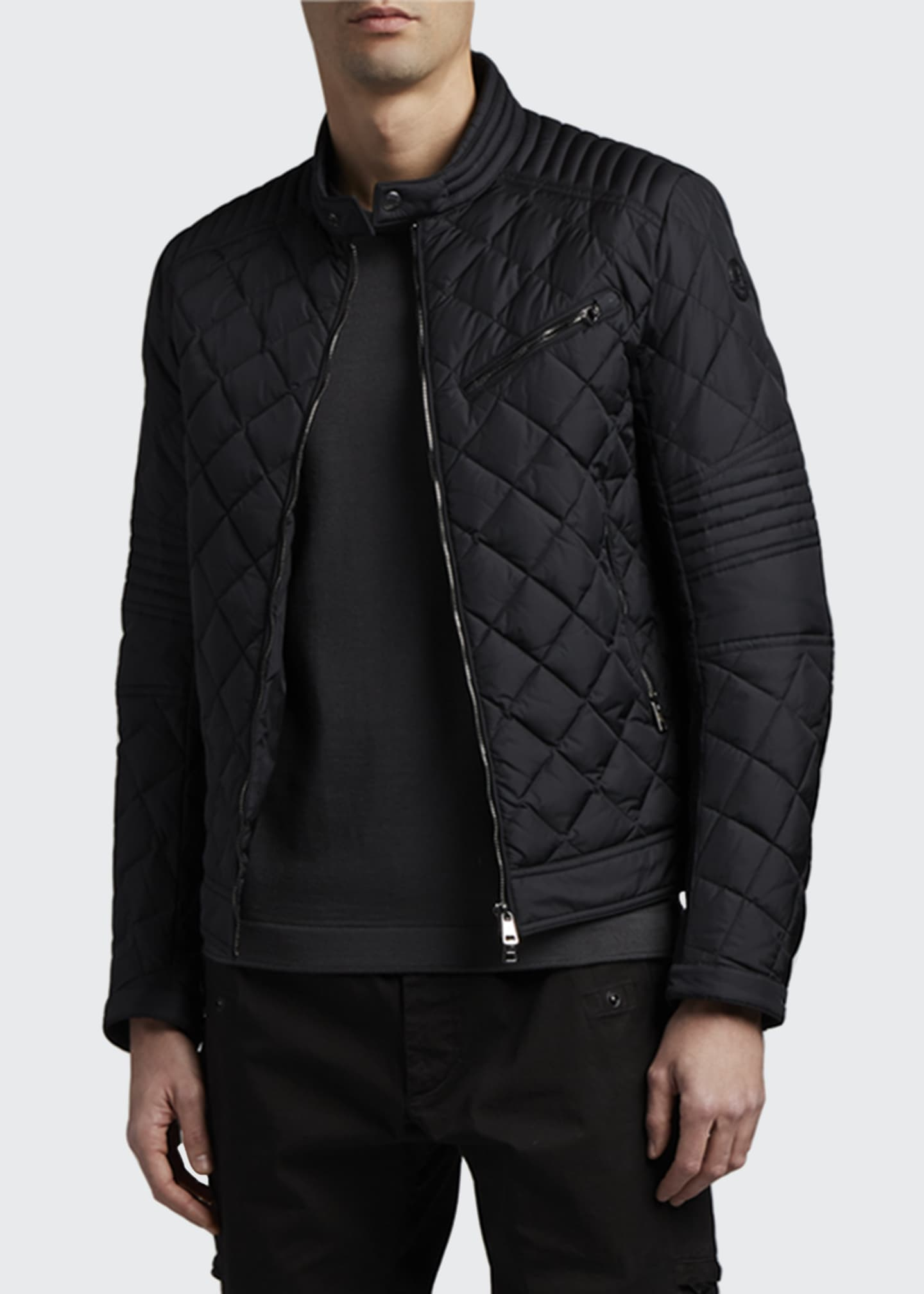 Image 2 of 3: Men's Breitman Quilted Moto Jacket