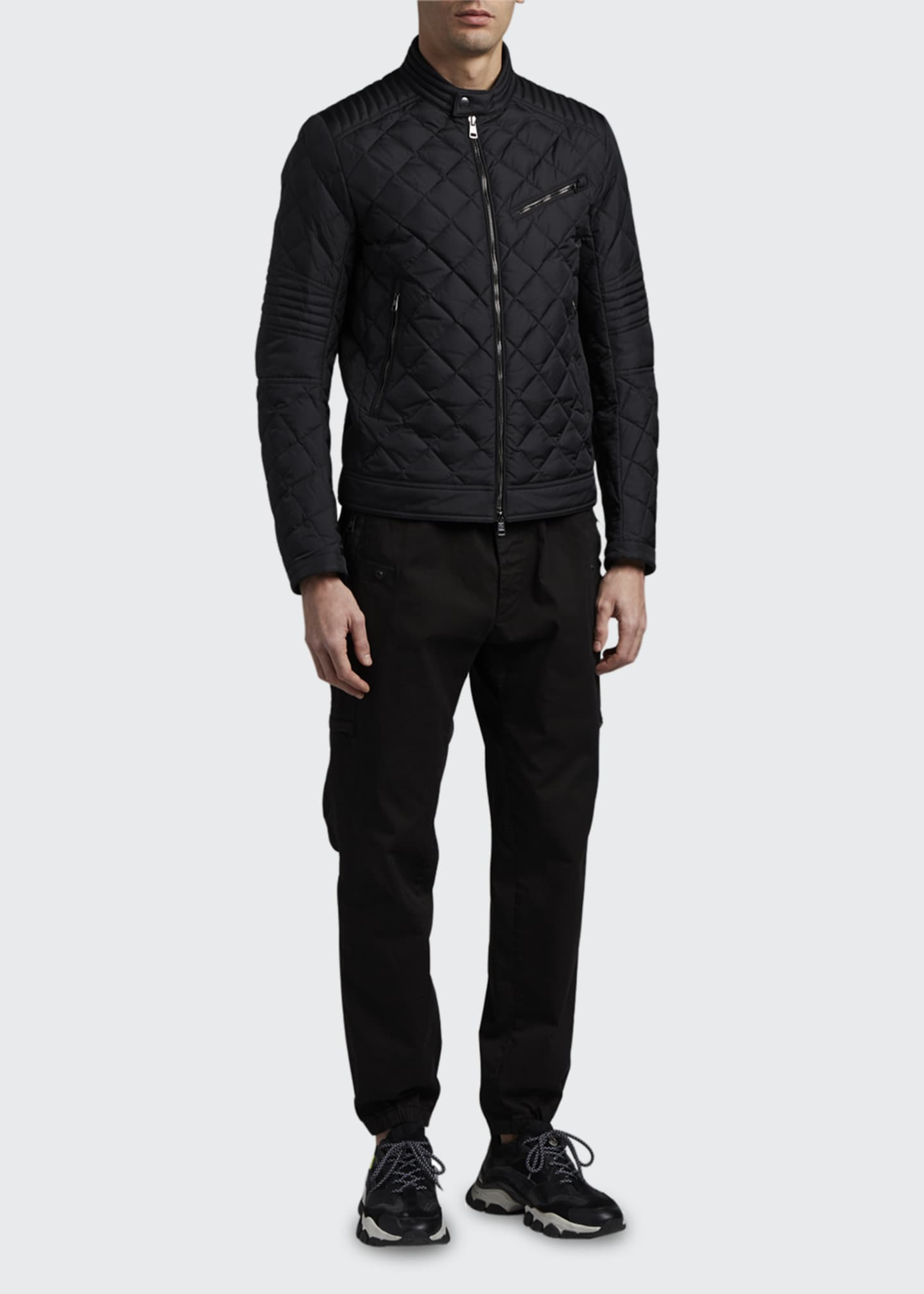 Image 1 of 3: Men's Breitman Quilted Moto Jacket