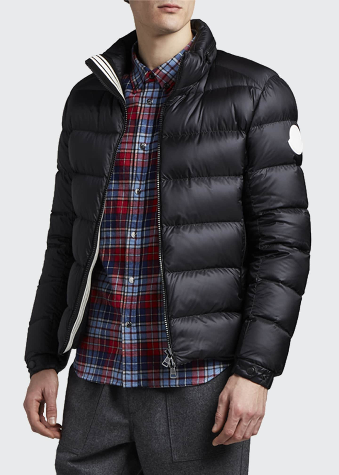 Image 2 of 3: Men's Gebroulaz Quilted Leather Jacket