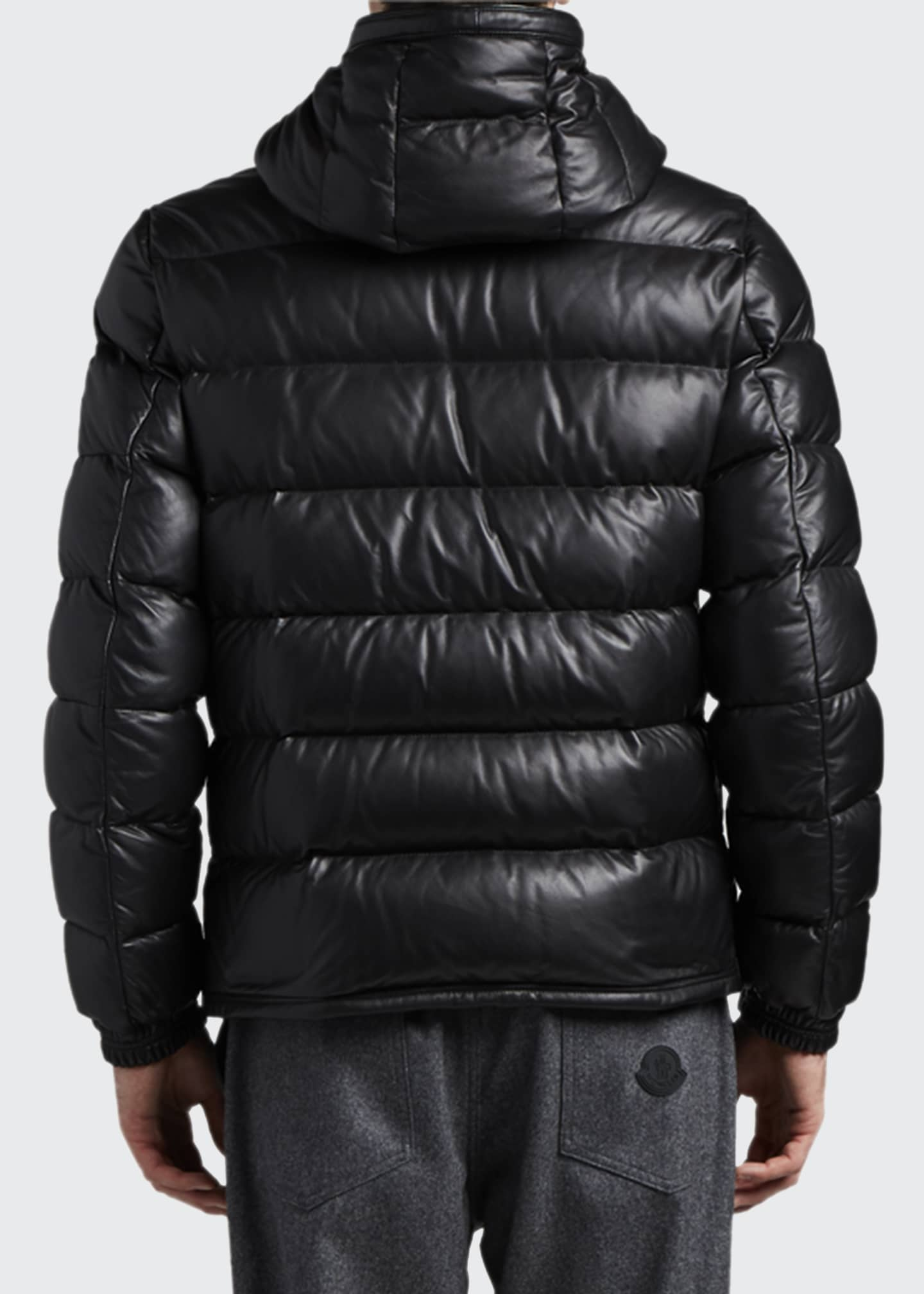 Image 3 of 3: Men's Gebroulaz Quilted Leather Jacket