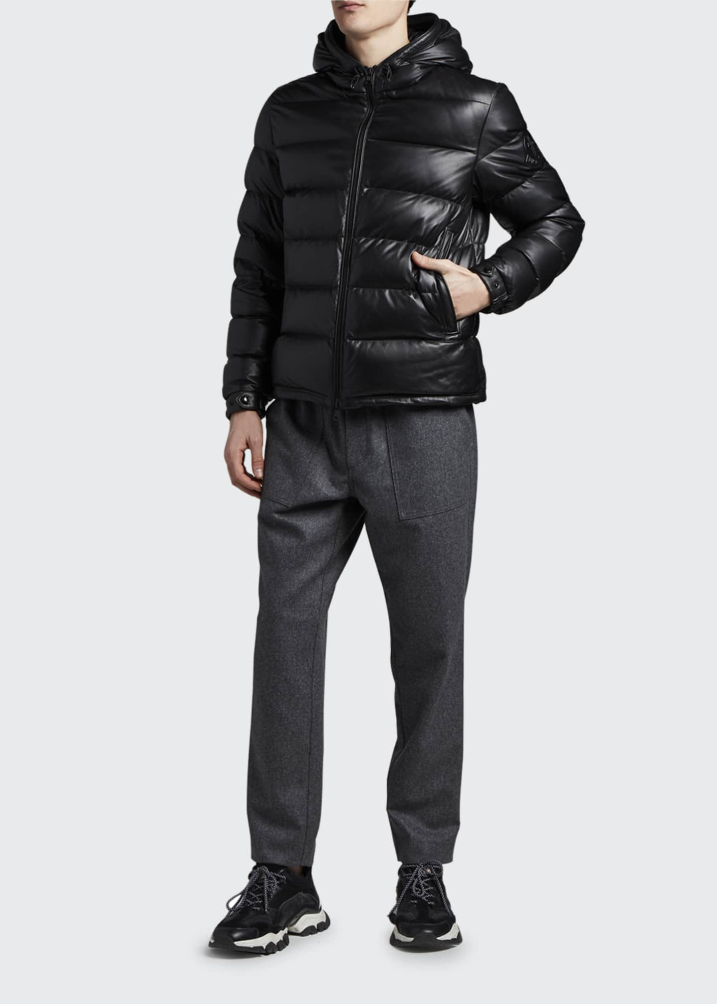 Image 1 of 3: Men's Gebroulaz Quilted Leather Jacket