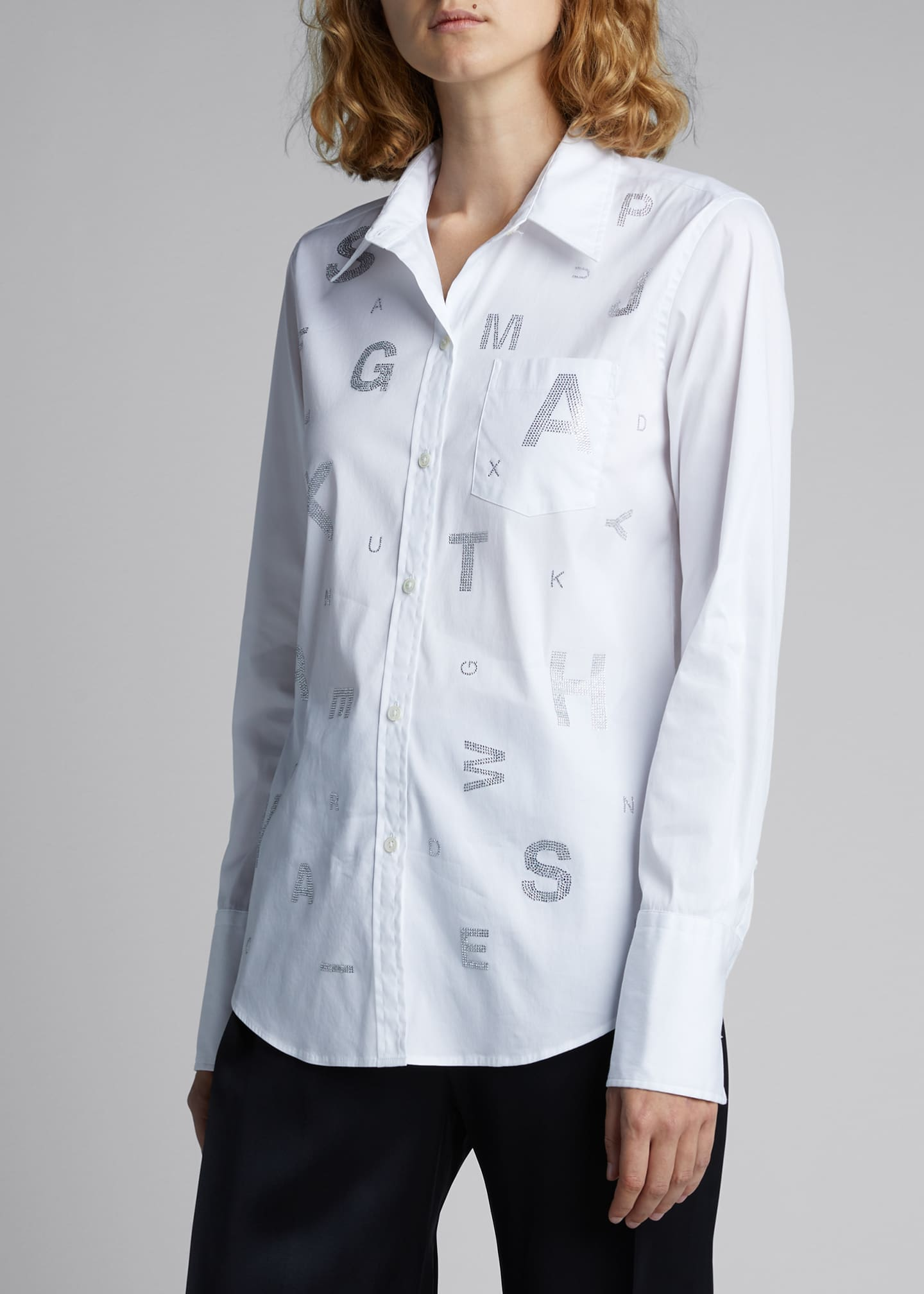Image 3 of 5: Eye Test Printed Classic Shirt
