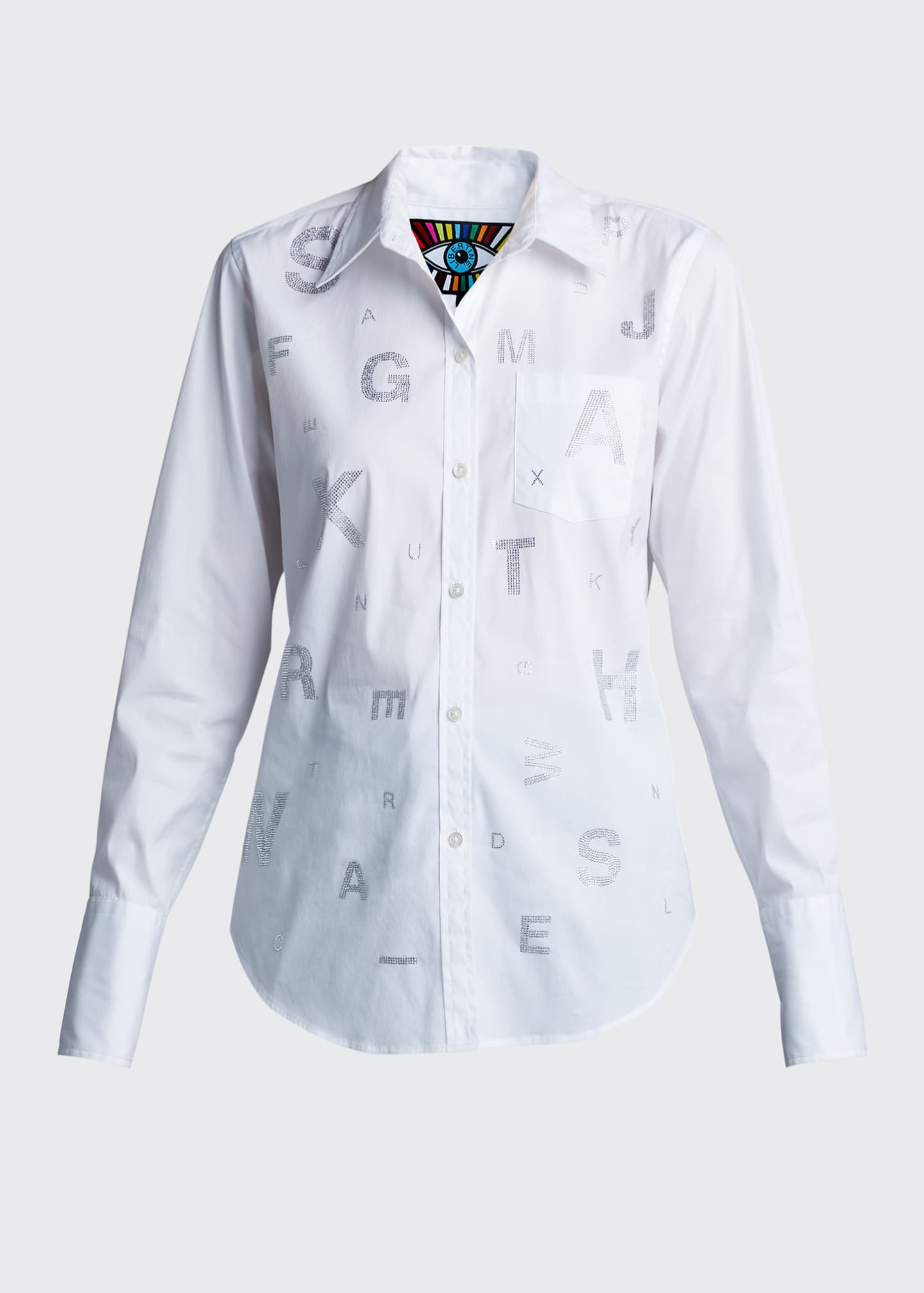 Image 5 of 5: Eye Test Printed Classic Shirt