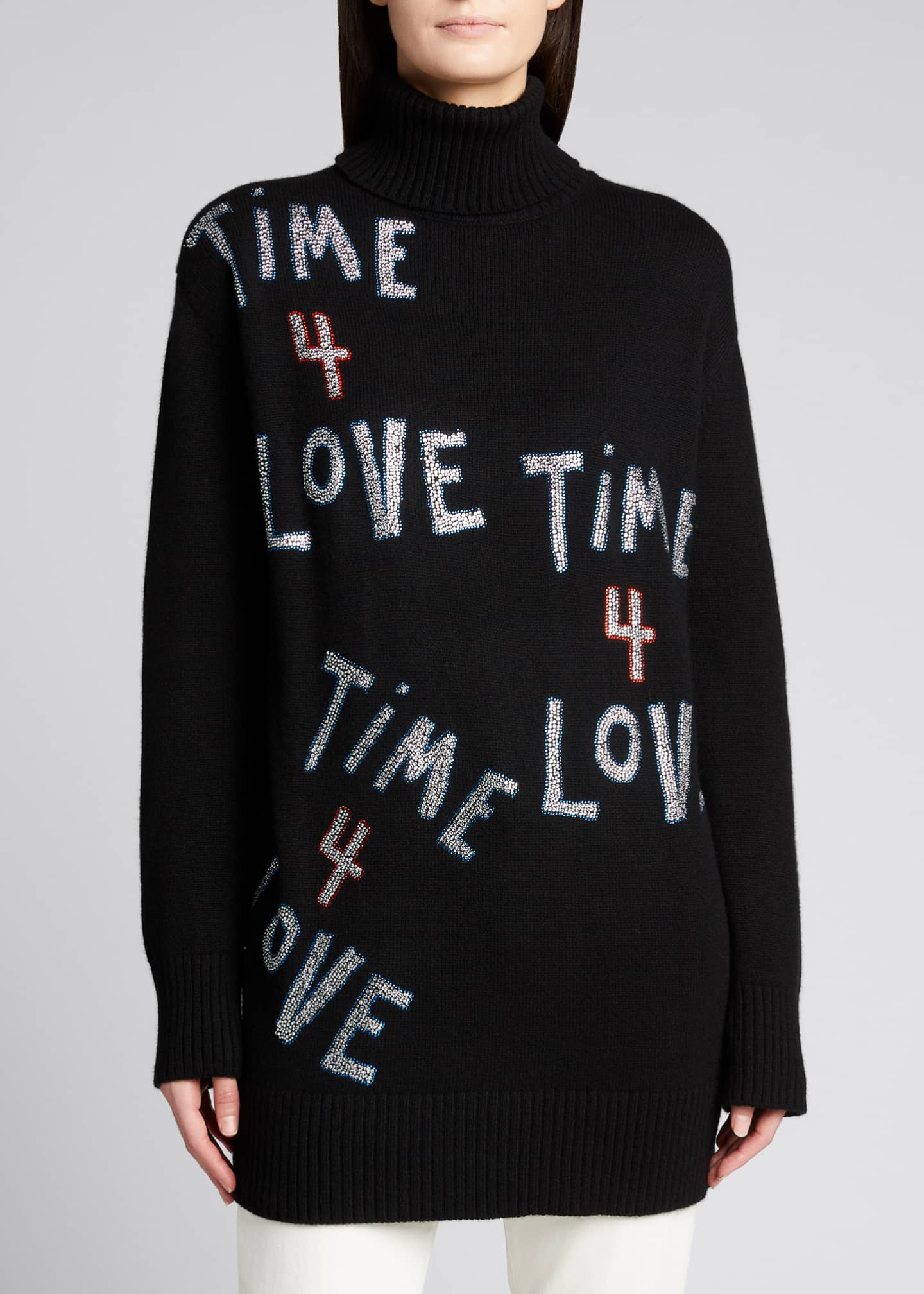 Image 3 of 5: Time 4 Love Embellished Cashmere Sweater
