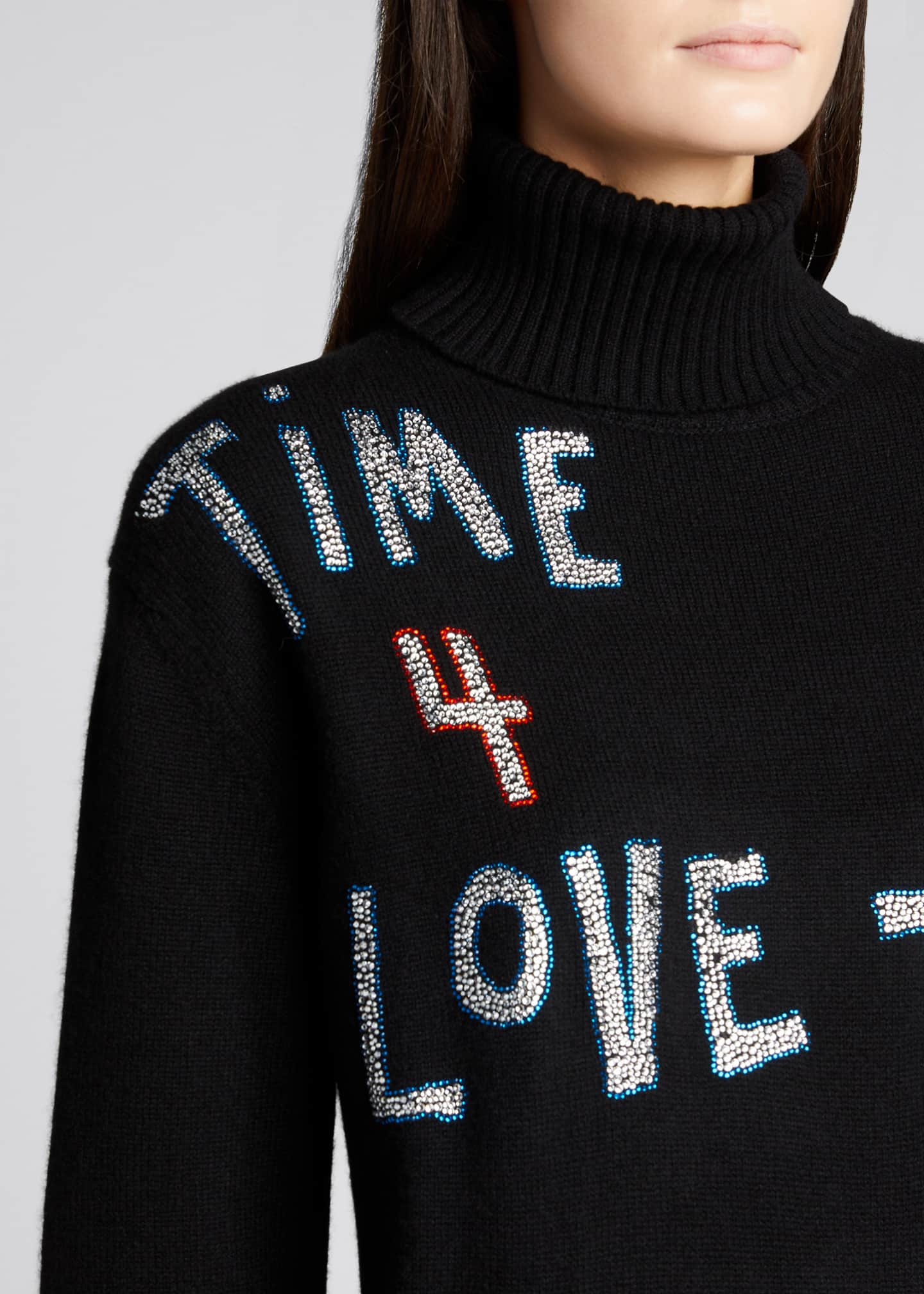 Image 4 of 5: Time 4 Love Embellished Cashmere Sweater