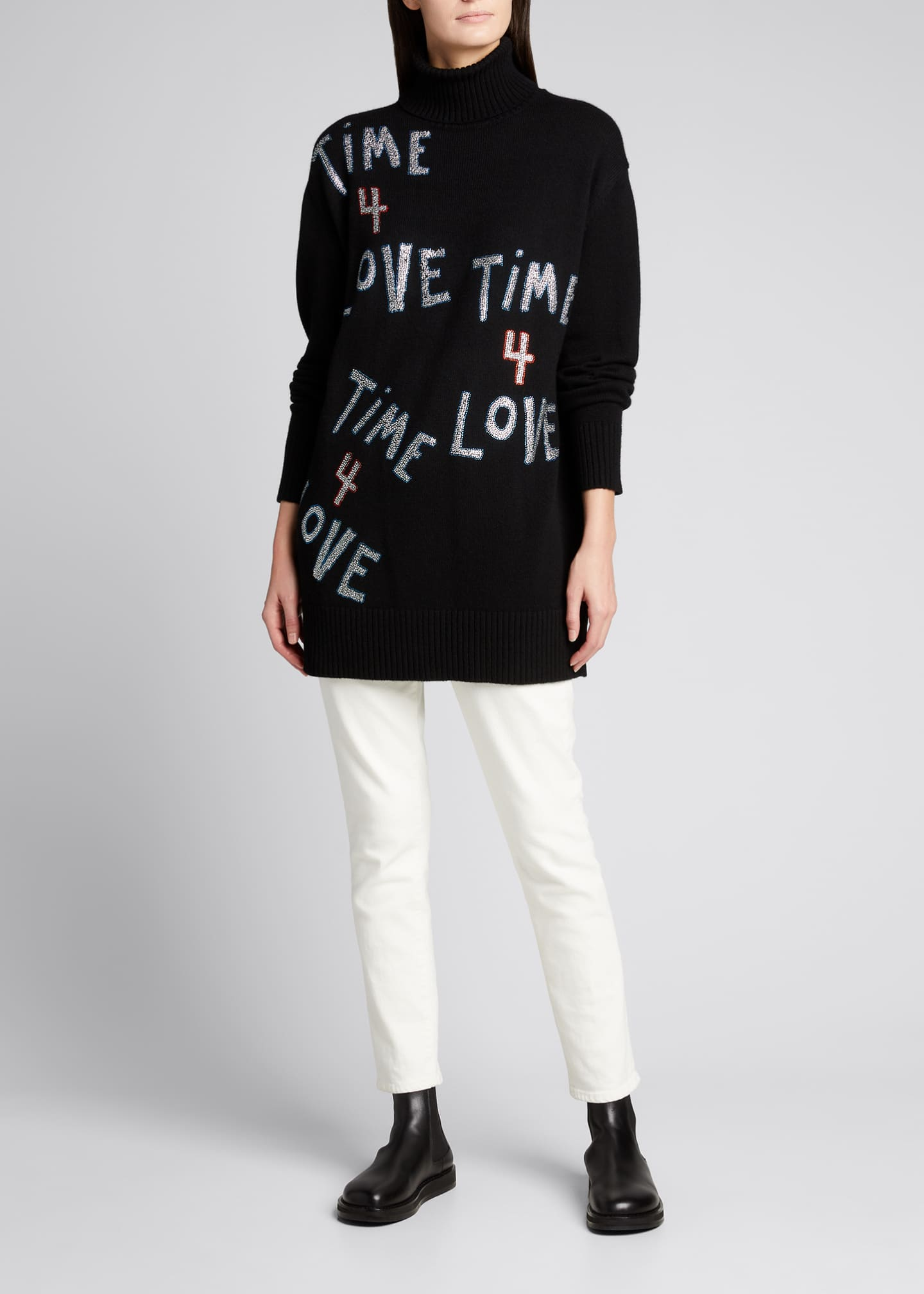 Image 1 of 5: Time 4 Love Embellished Cashmere Sweater