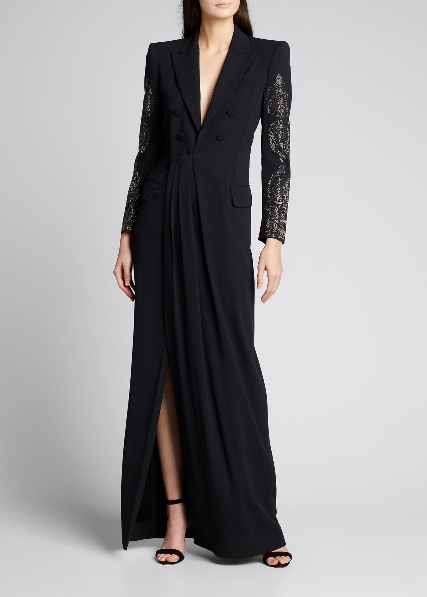 Image 1 of 5: Vintage Gothic Spire Embellished Dress