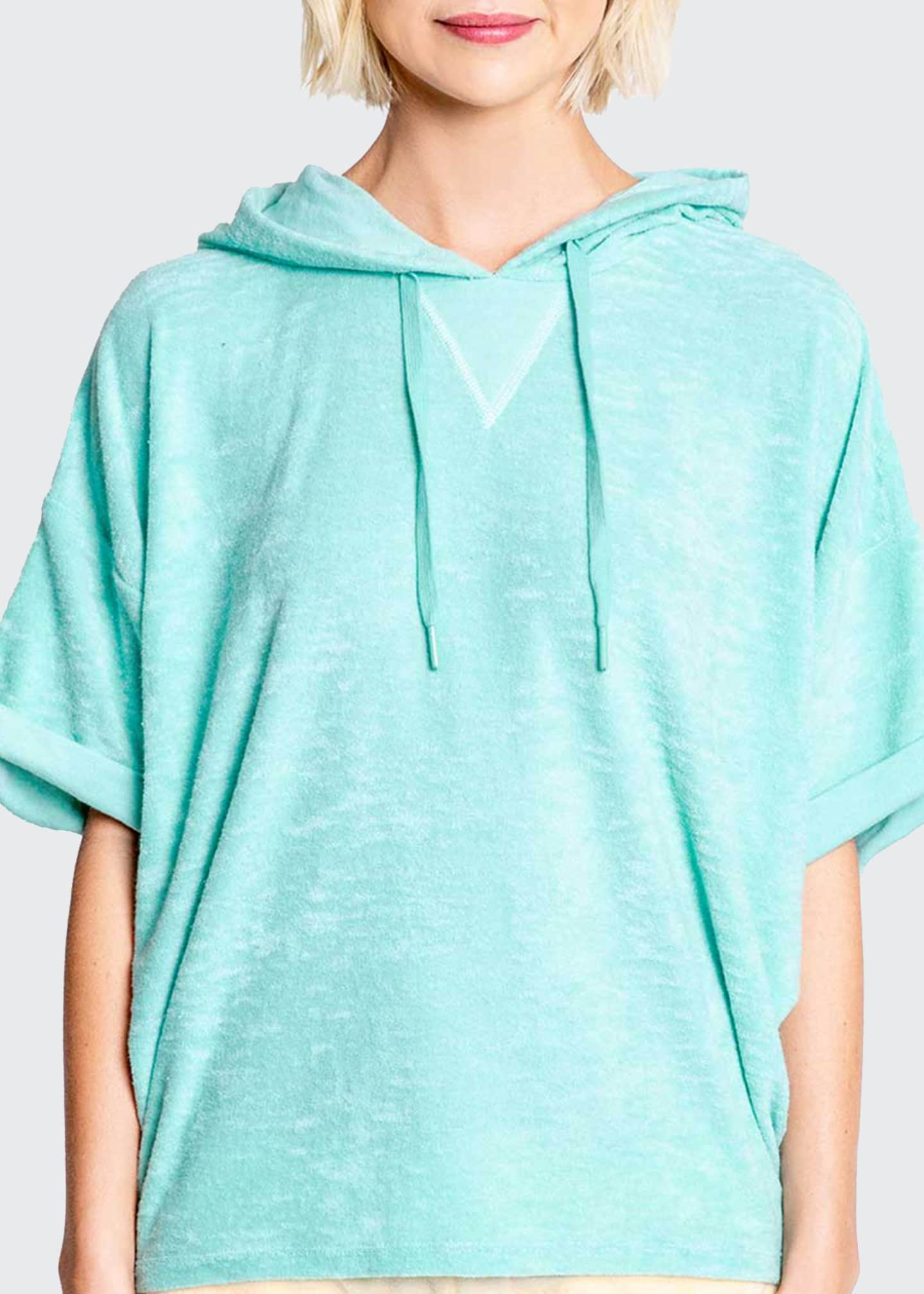 Image 1 of 3: Beach Bound Terry Hooded Top