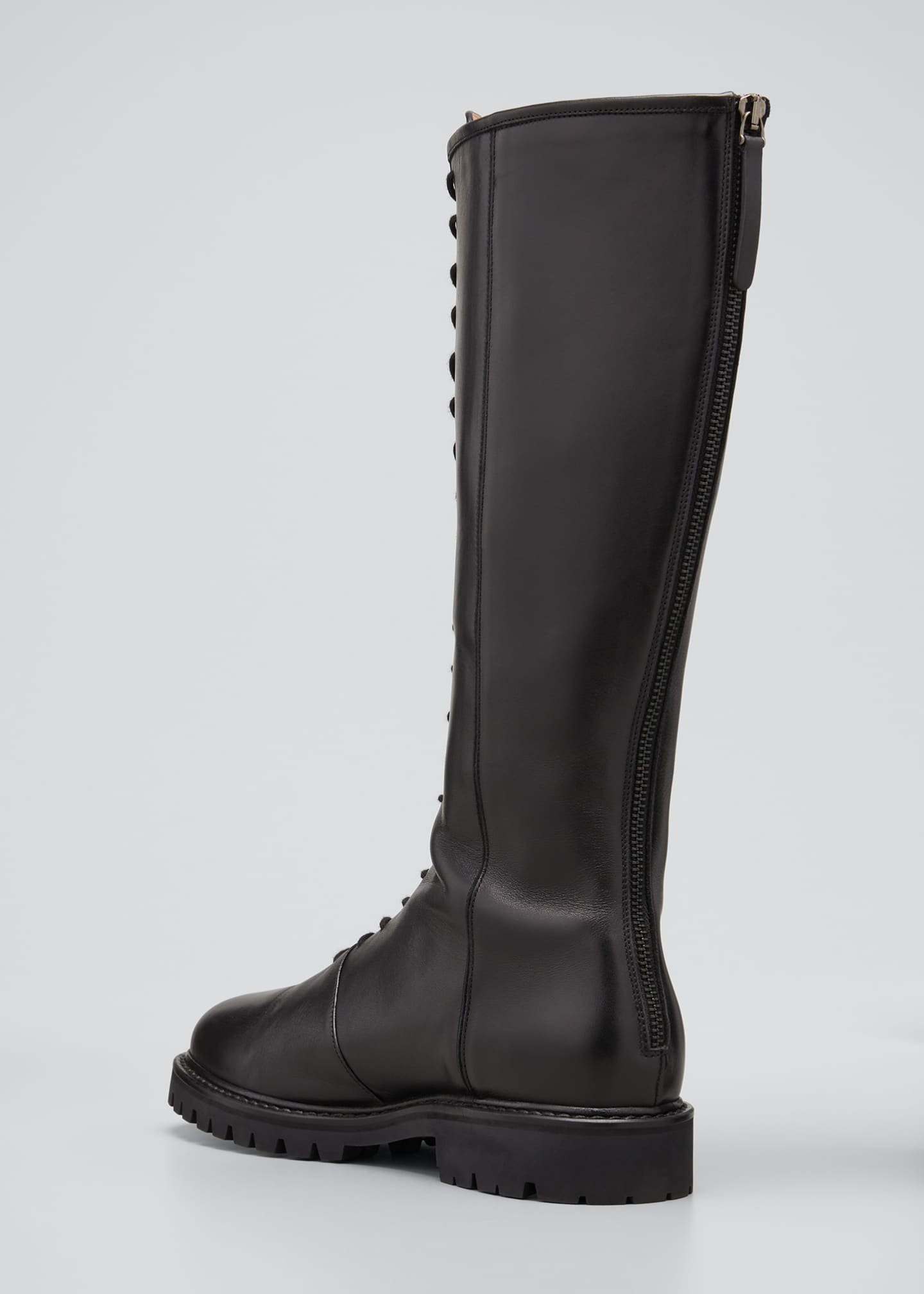 Image 4 of 5: Tall Napa Zip Combat Boots