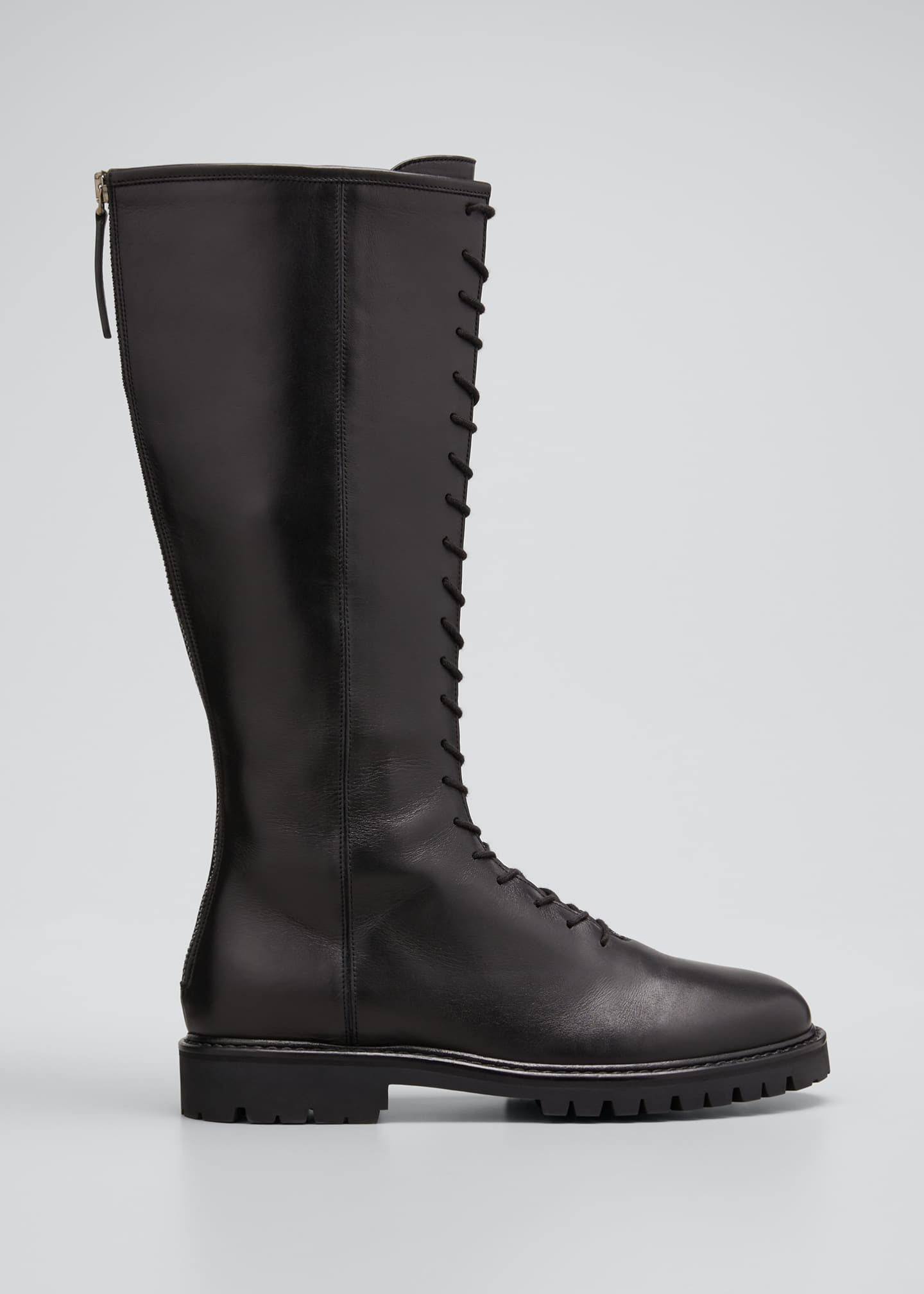 Image 1 of 5: Tall Napa Zip Combat Boots