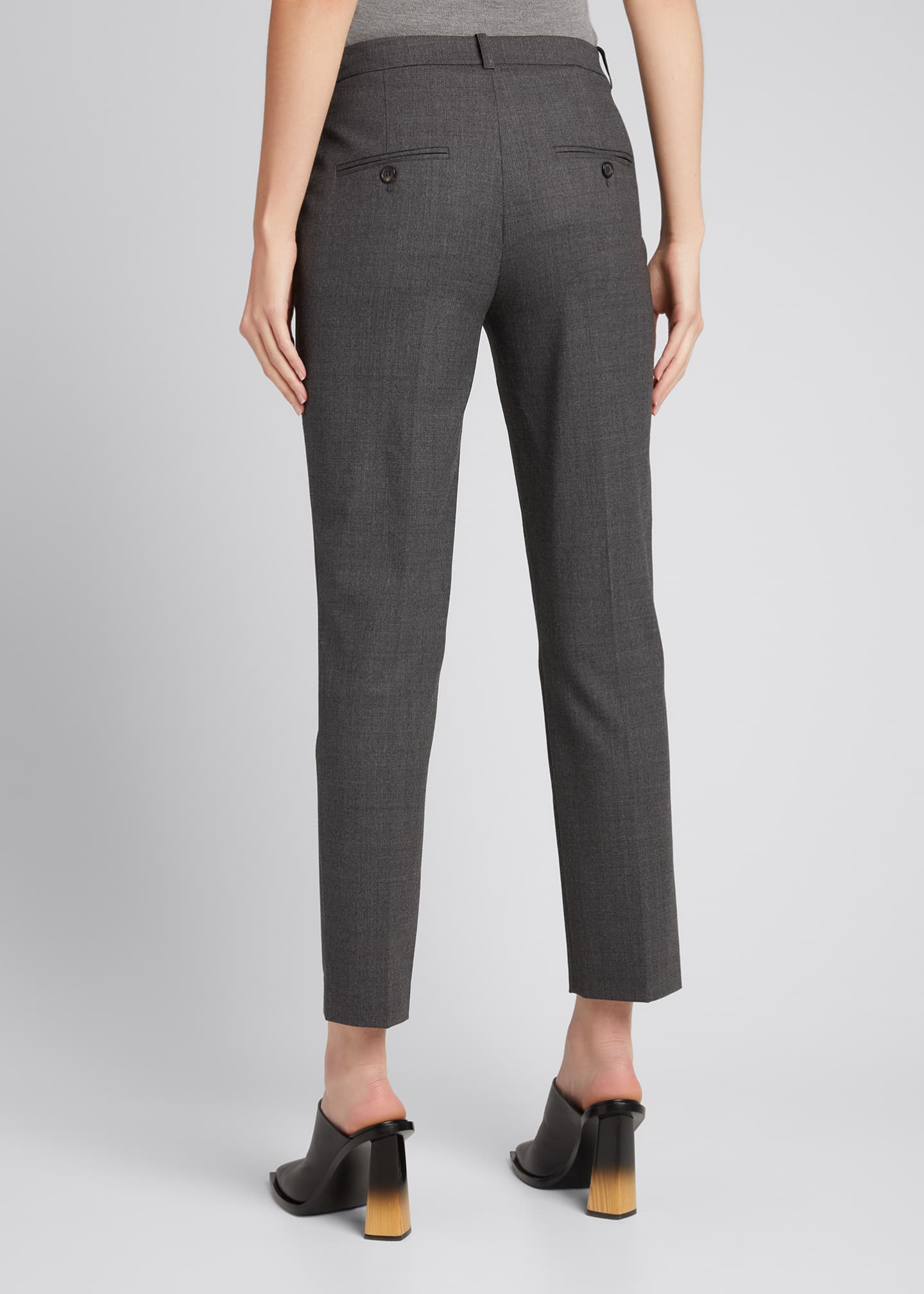 Image 2 of 5: Samantha Cropped Stretch Wool Pants