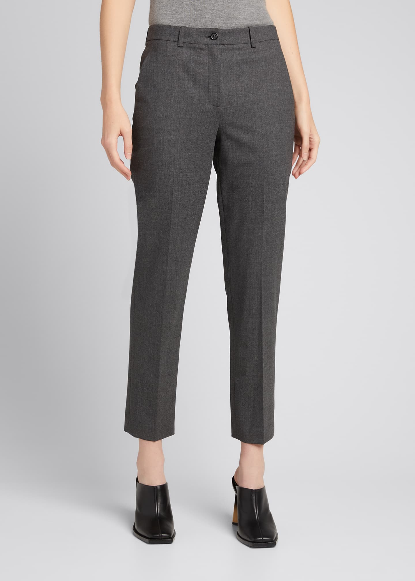 Image 3 of 5: Samantha Cropped Stretch Wool Pants