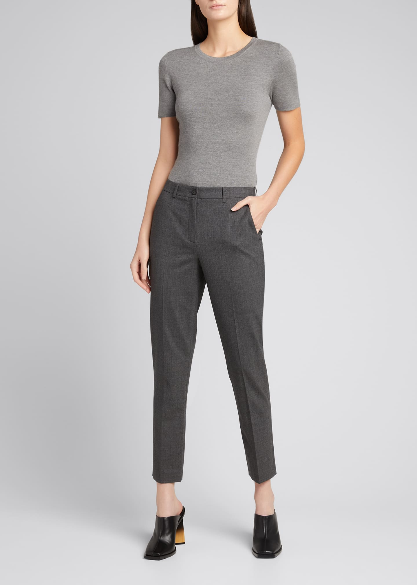 Image 1 of 5: Samantha Cropped Stretch Wool Pants