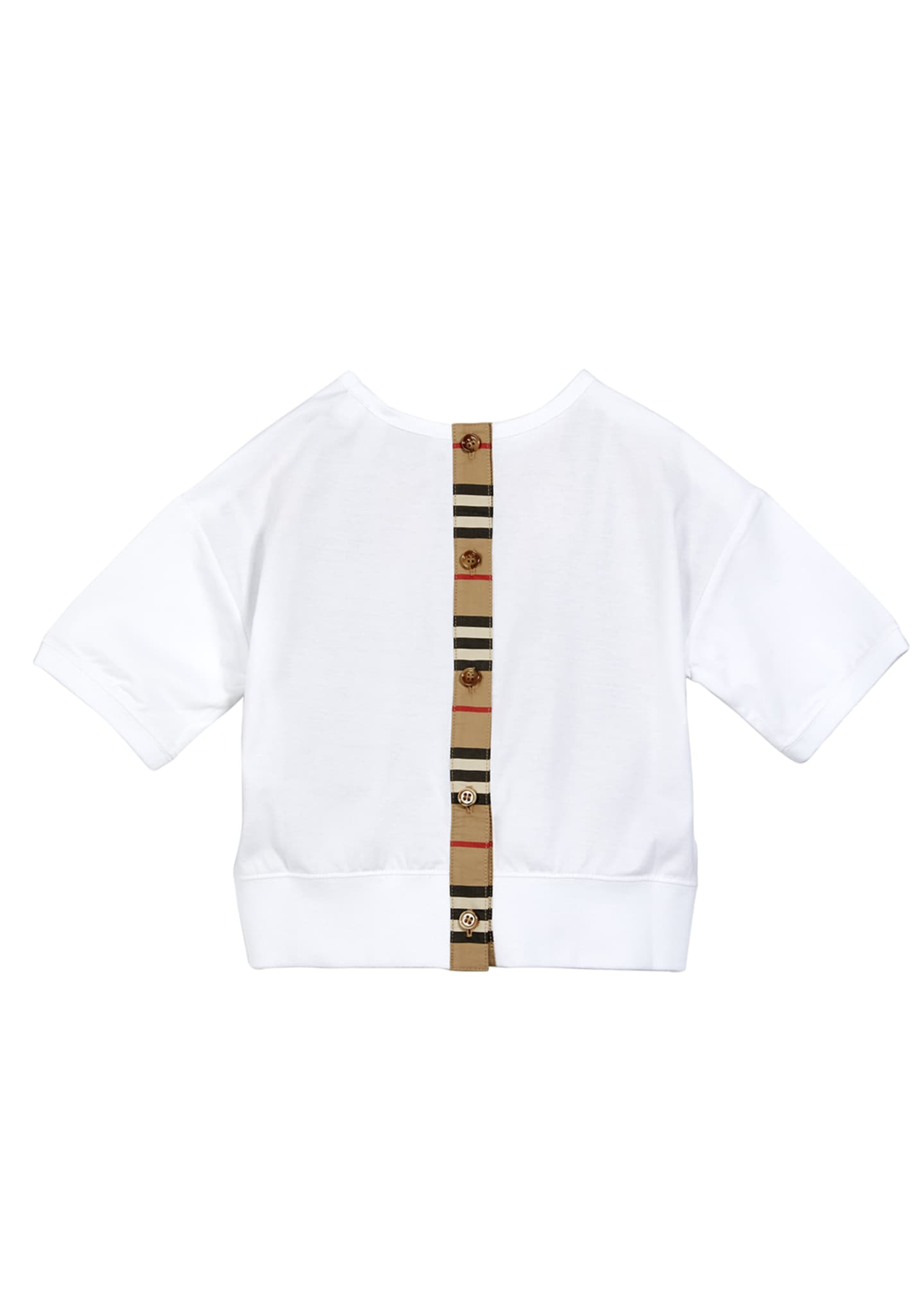 Image 2 of 2: Girl's Aisha Icon Stripe Panel T-Shirt
