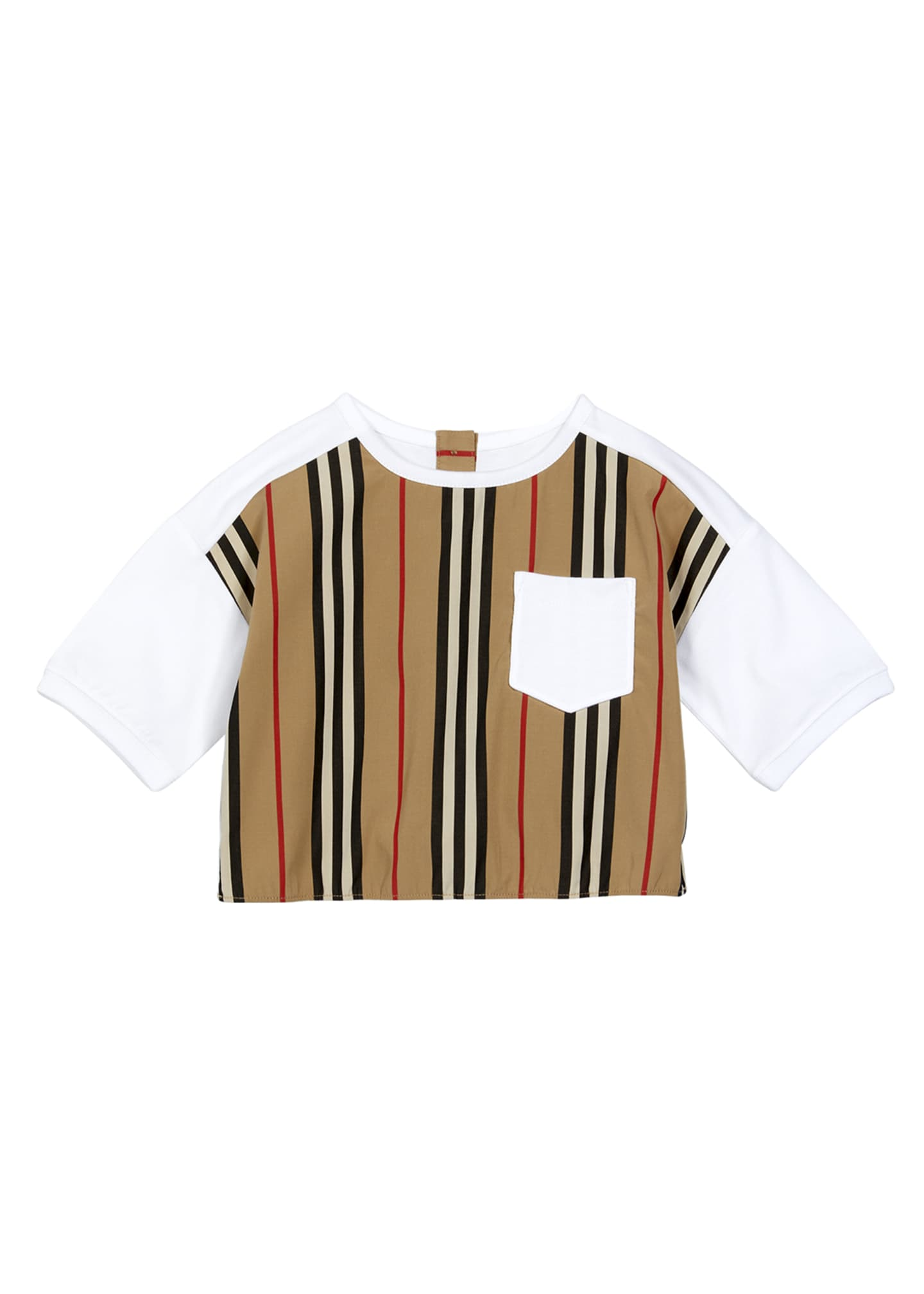 Image 1 of 2: Girl's Aisha Icon Stripe Panel T-Shirt