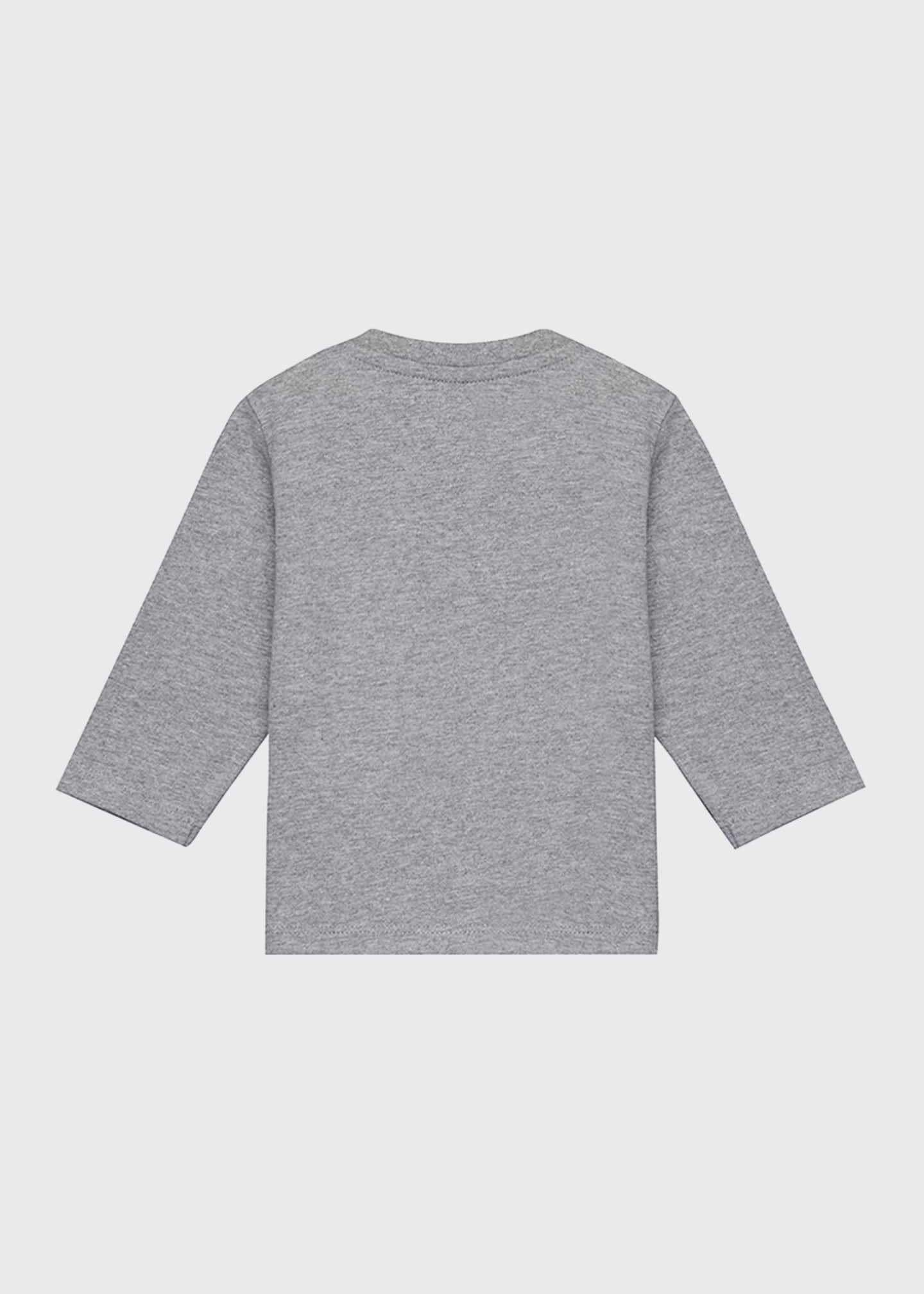 Image 2 of 2: Block Logo Long-Sleeve T-Shirt, Size 12 Months-3