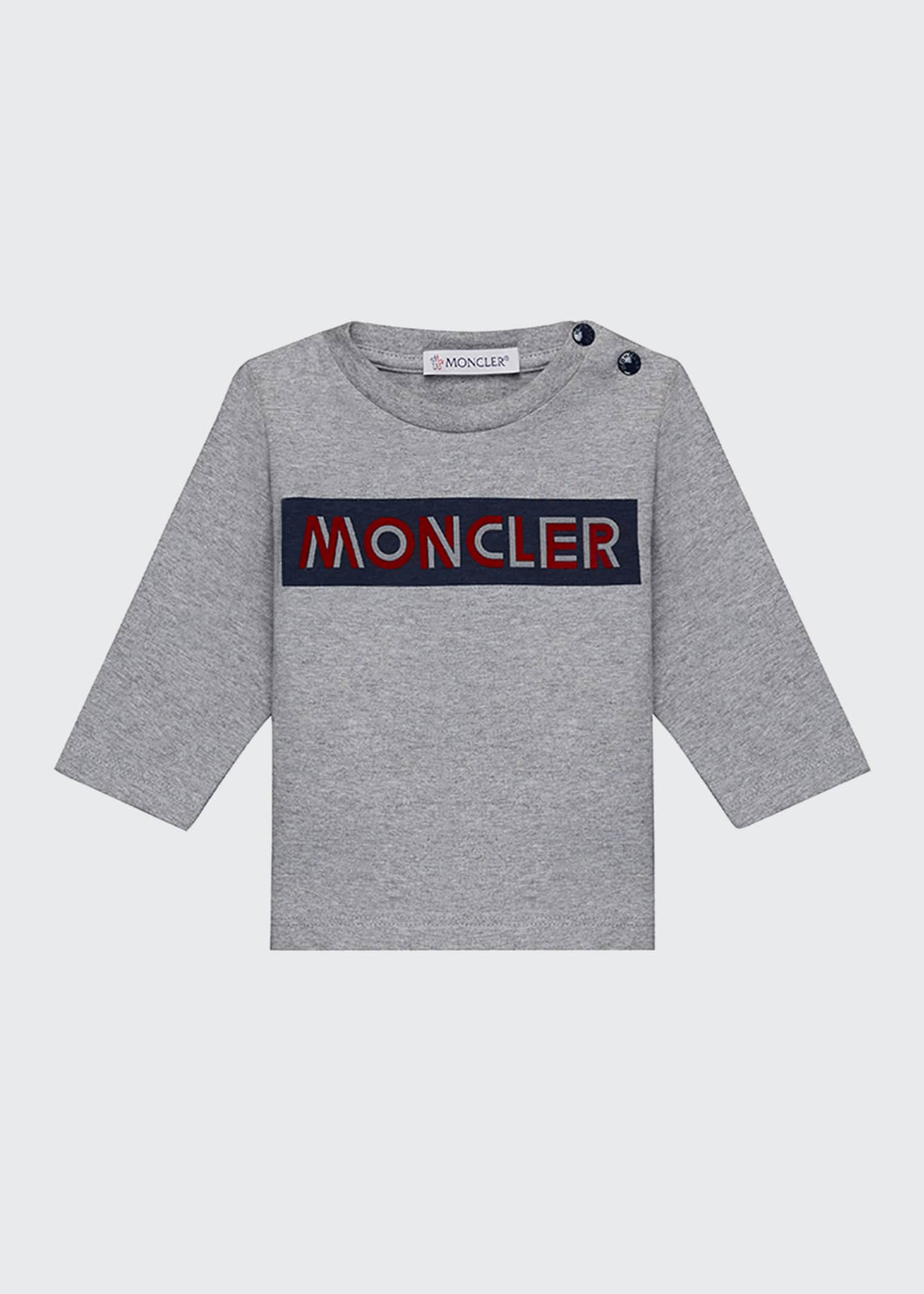 Image 1 of 2: Block Logo Long-Sleeve T-Shirt, Size 12 Months-3