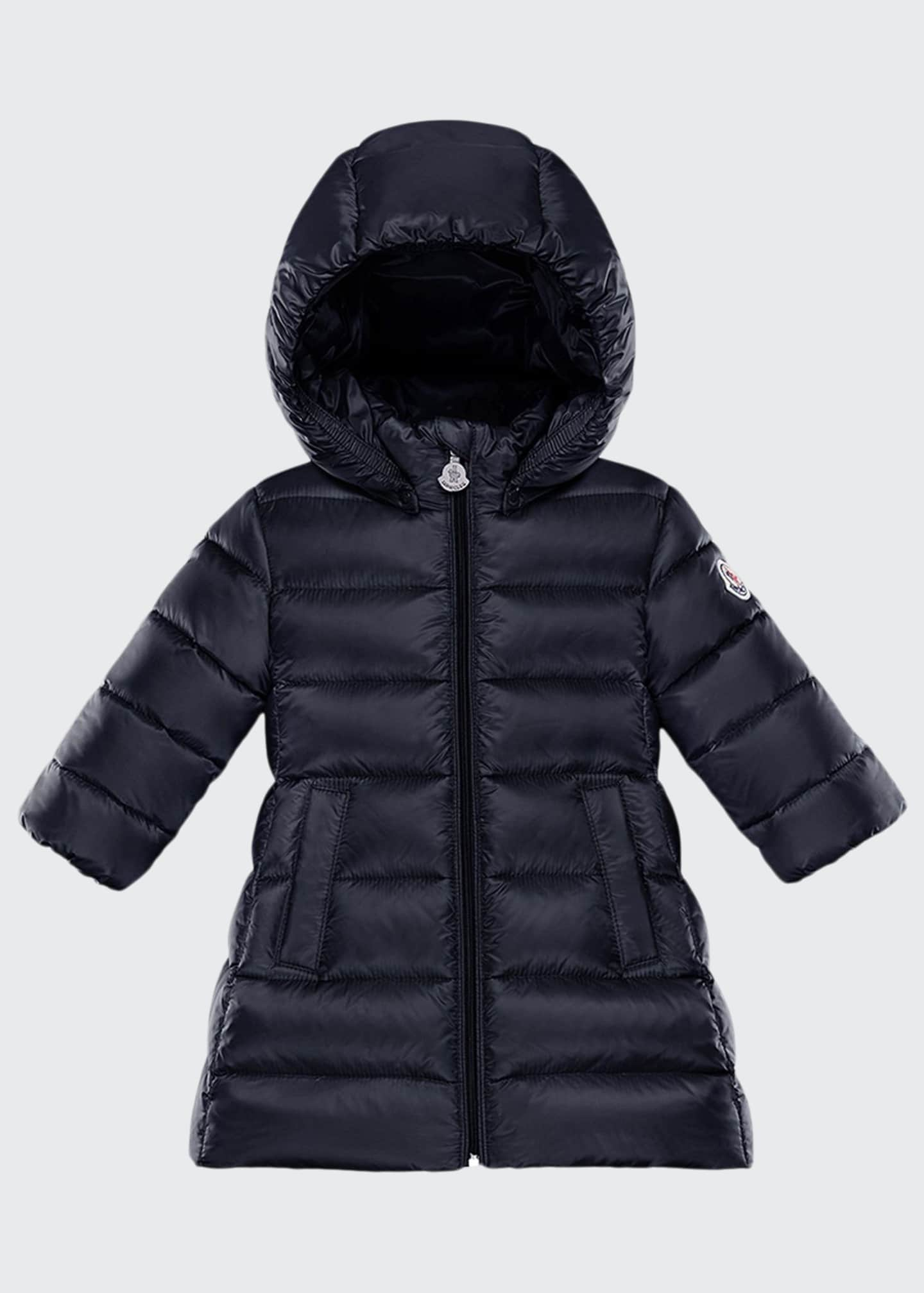 Image 1 of 2: Majeure Quilted Puffer Hooded Long Coat, Size 12M-3