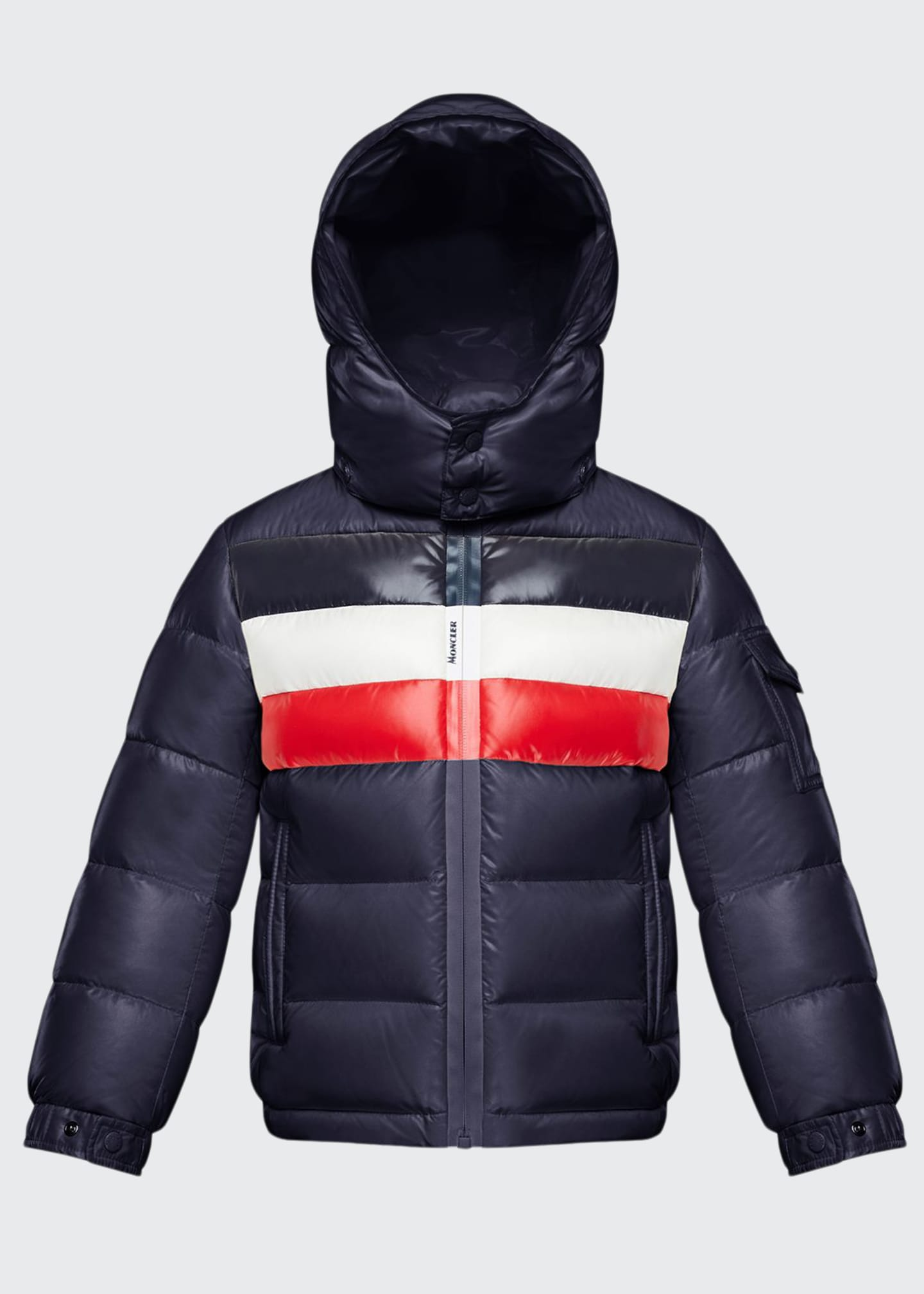 Image 1 of 2: Boy's Dell Quilted Logo-Strip Puffer Jacket, Size 8-14