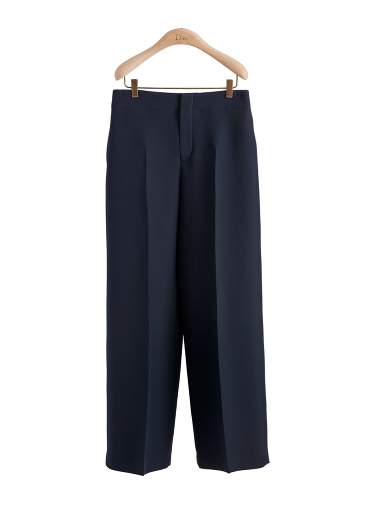 Image 1 of 1: Wide Leg Pant In Silk Wool