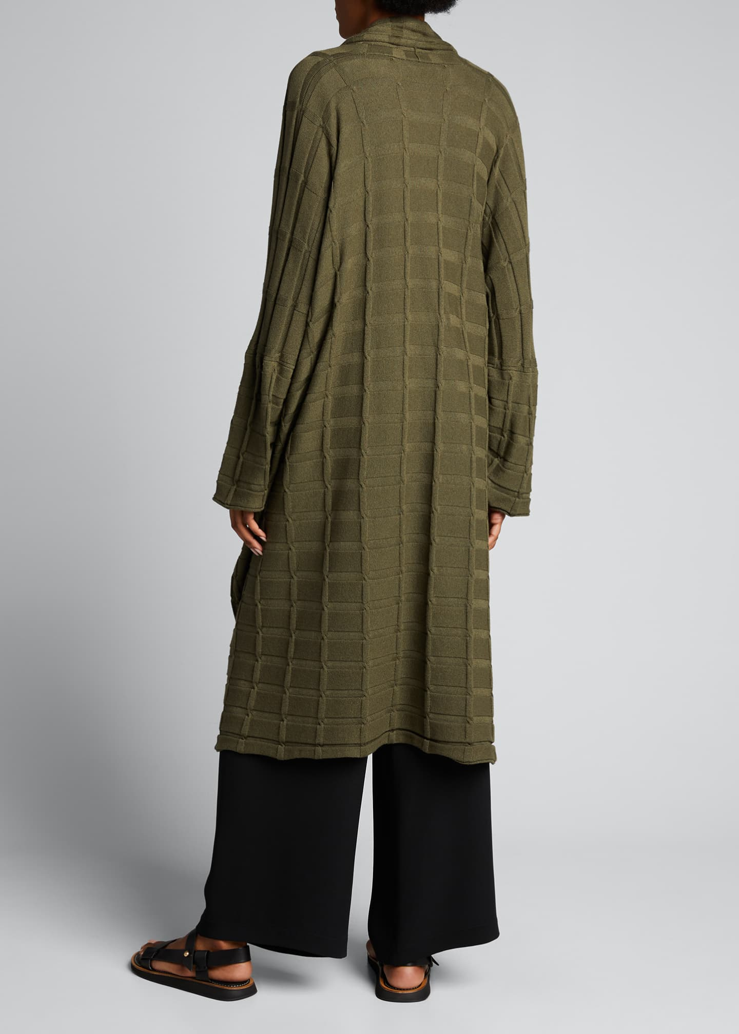 Image 2 of 4: Wide Square Cashmere Duster Cardigan
