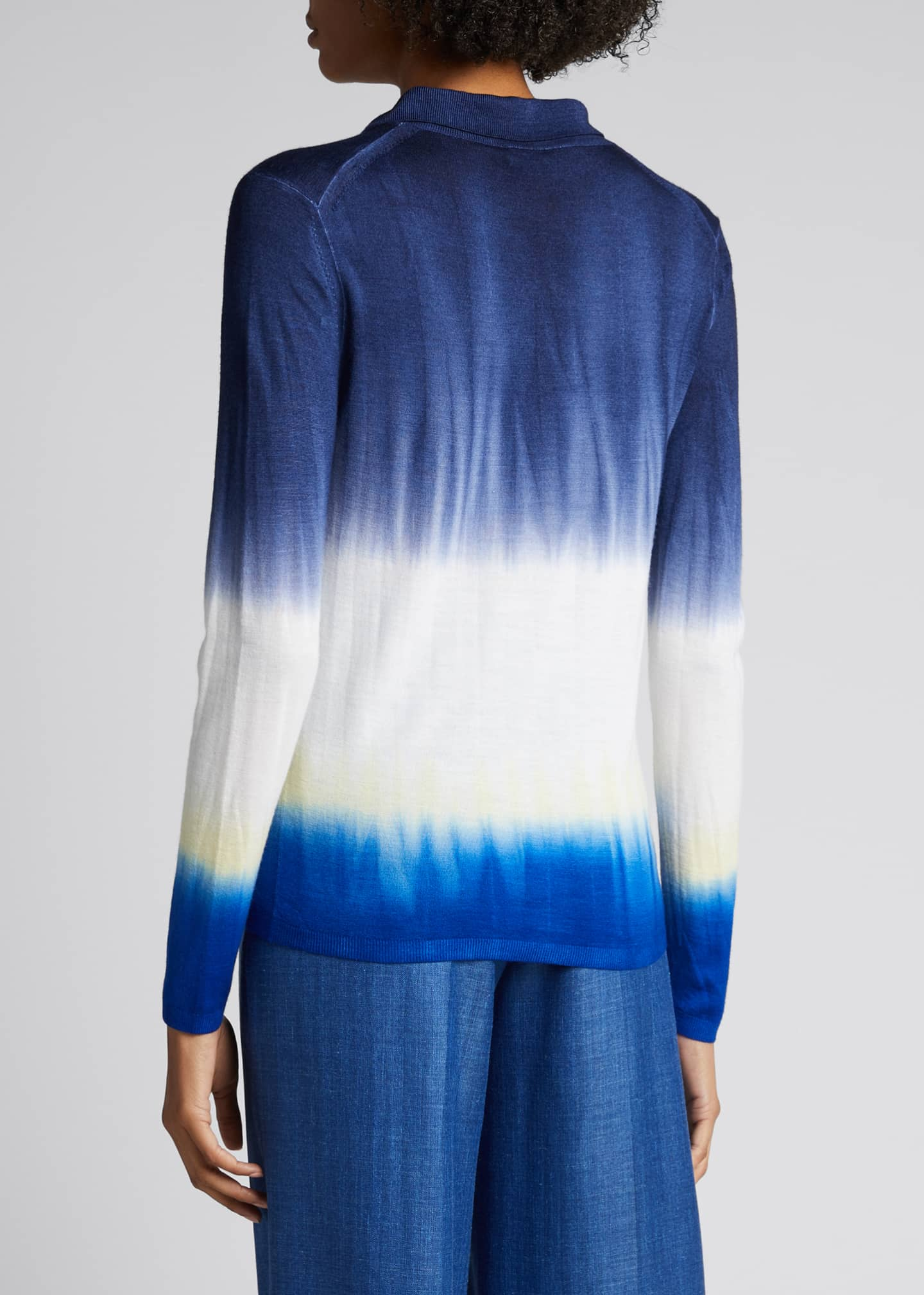 Image 2 of 5: Elaine Tie-Dye Cashmere Sweater