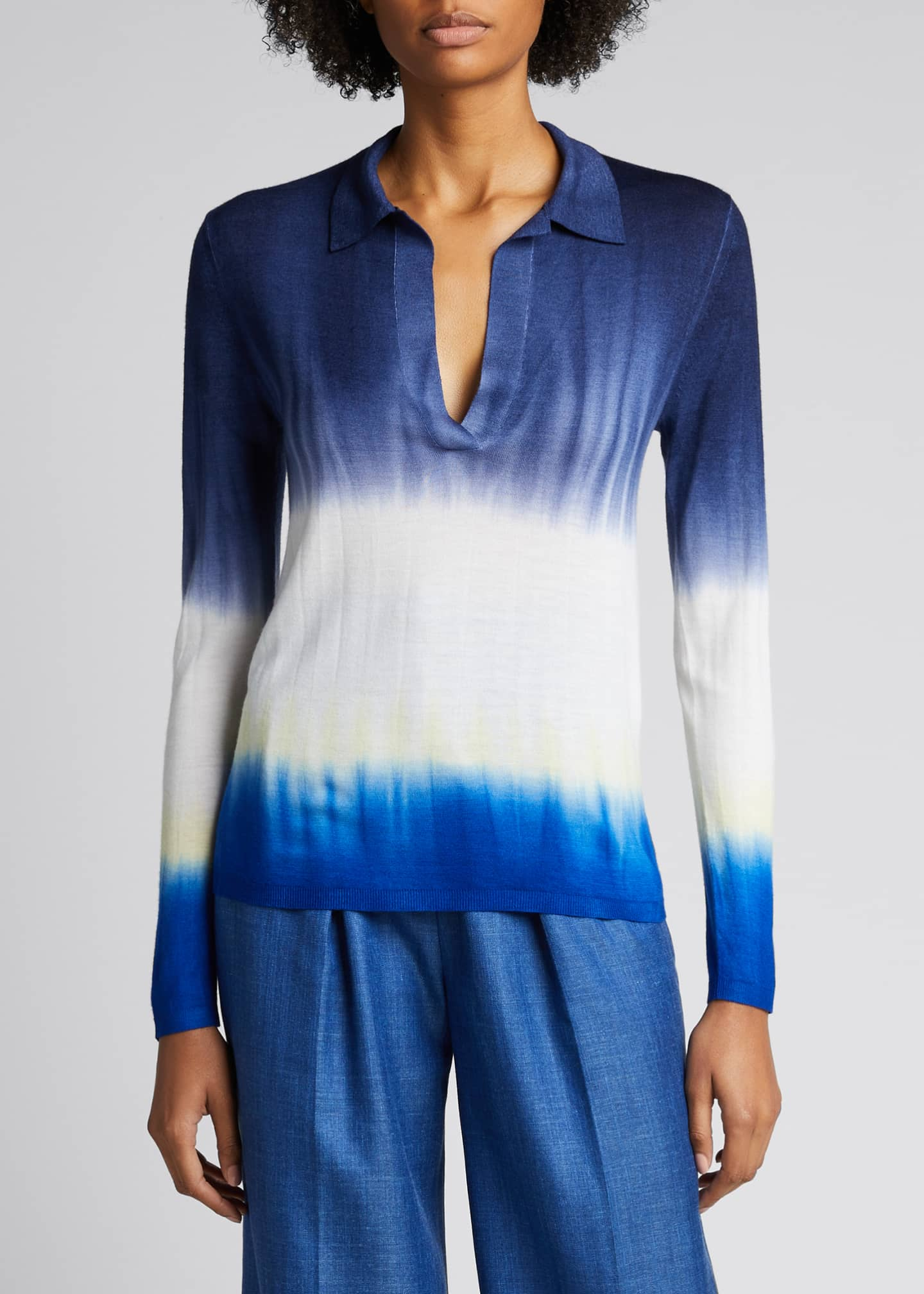 Image 3 of 5: Elaine Tie-Dye Cashmere Sweater