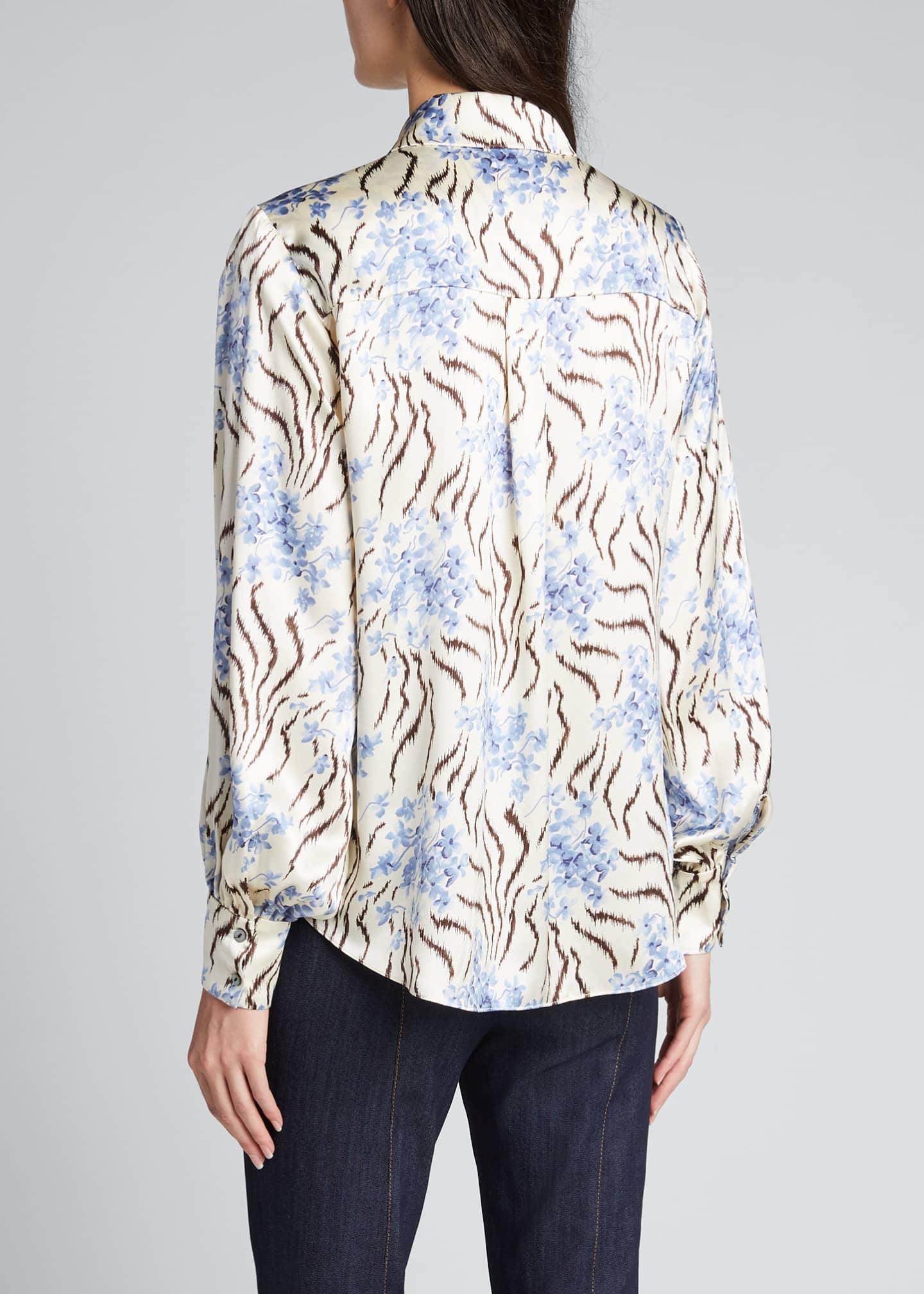 Image 2 of 5: Eli Long-Sleeve Silk Top
