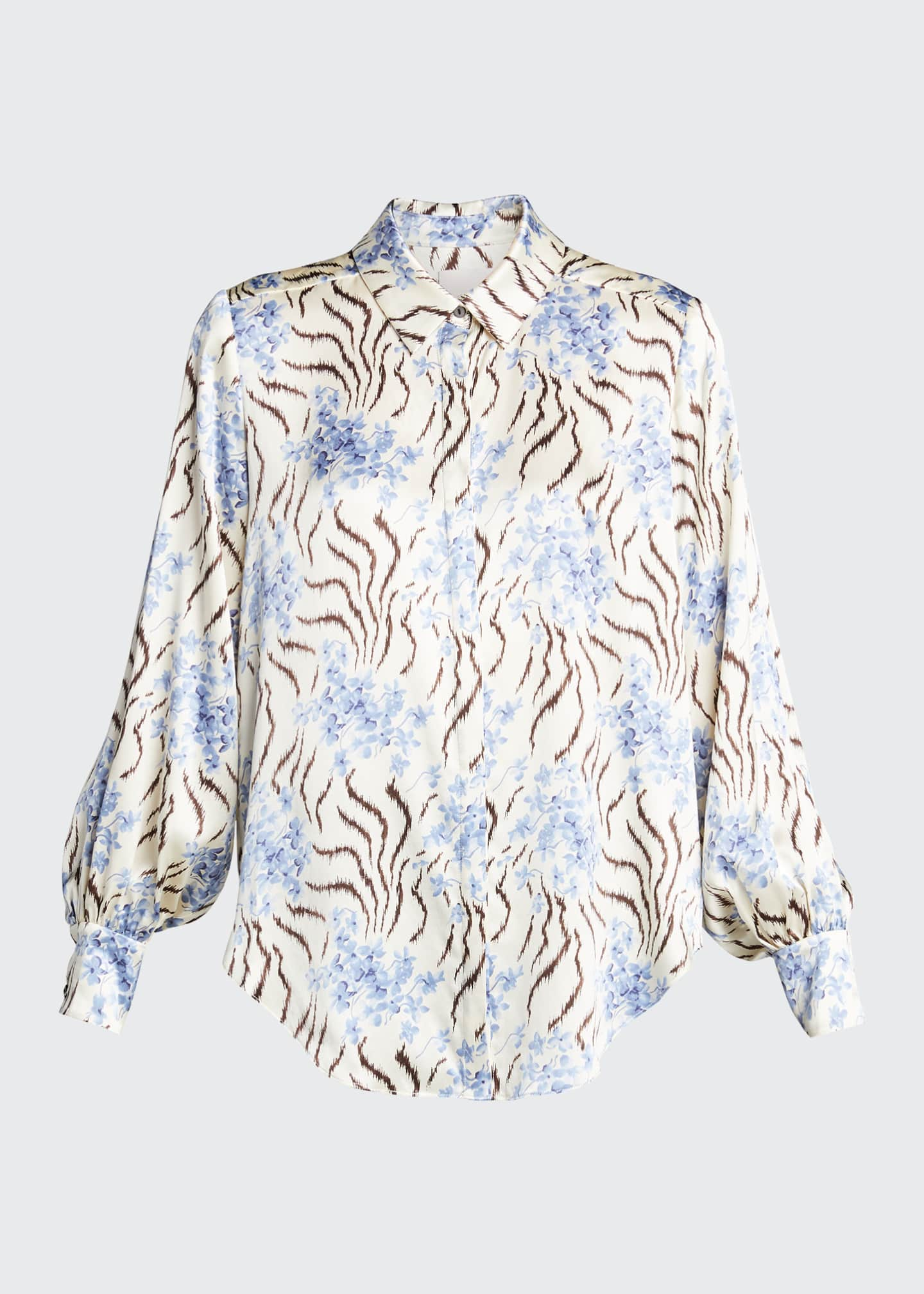 Image 5 of 5: Eli Long-Sleeve Silk Top
