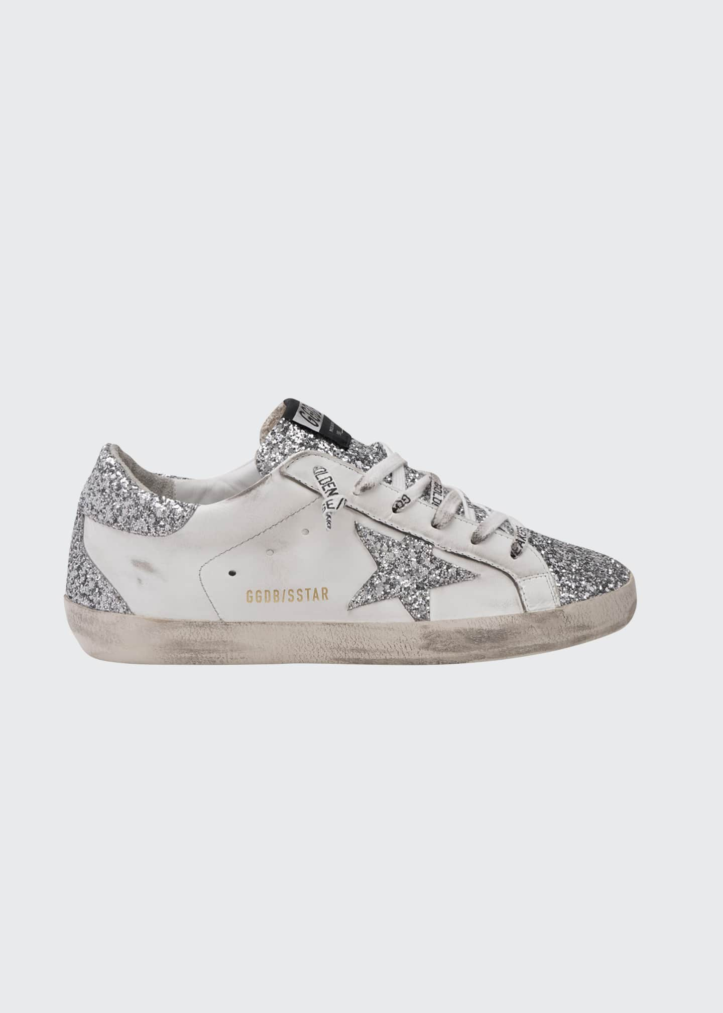 Image 1 of 1: Superstar Glitter Low-Top Court Sneakers