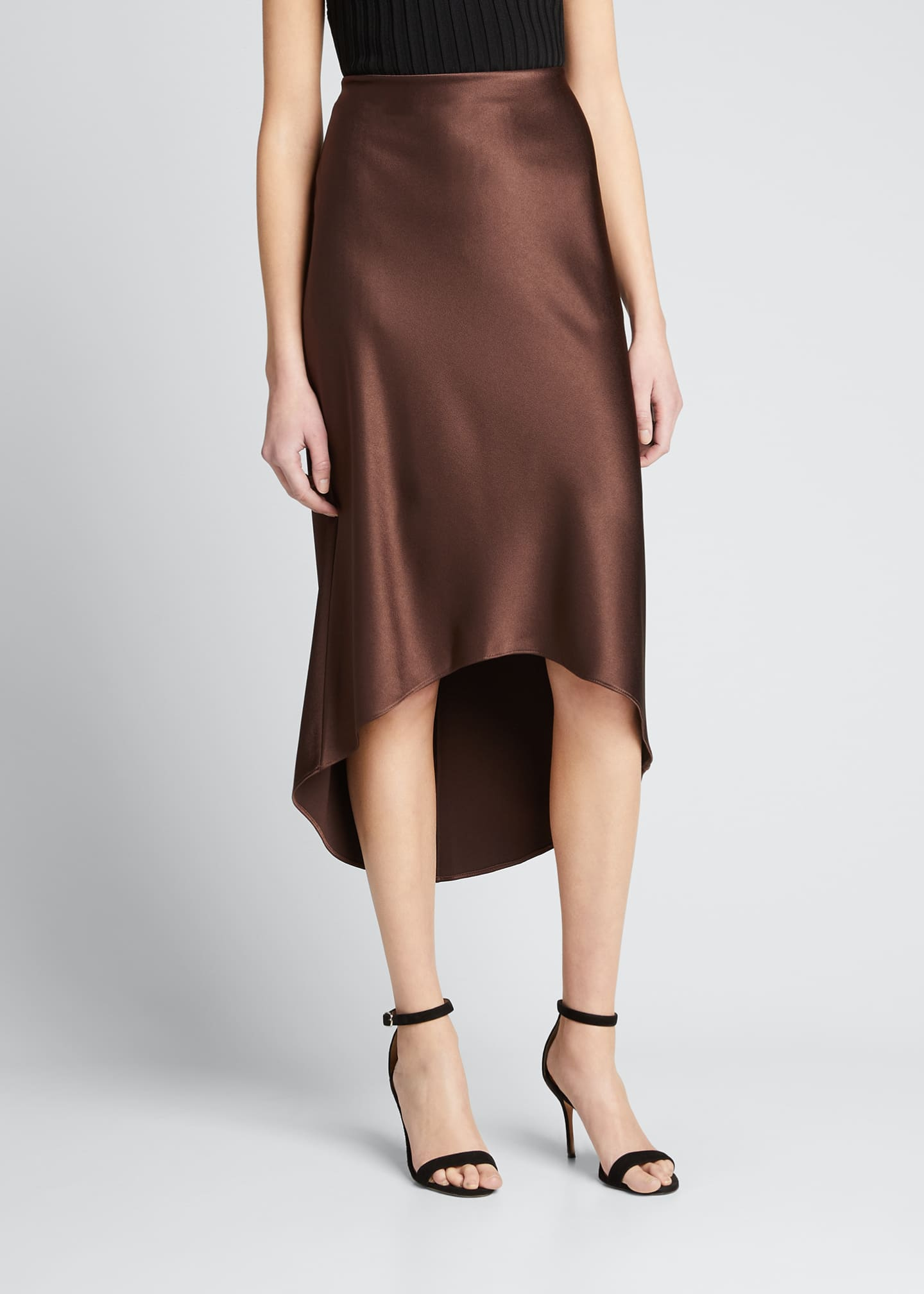 Image 1 of 1: Maeve High-Low Slip Skirt
