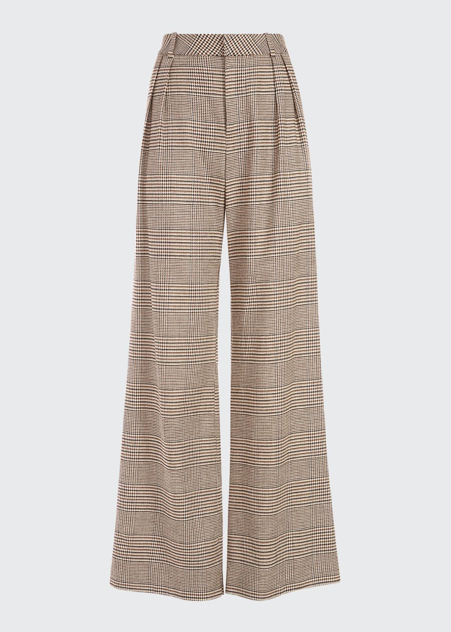 Image 2 of 4: Eric High-Waist Front Pleat Check Pants