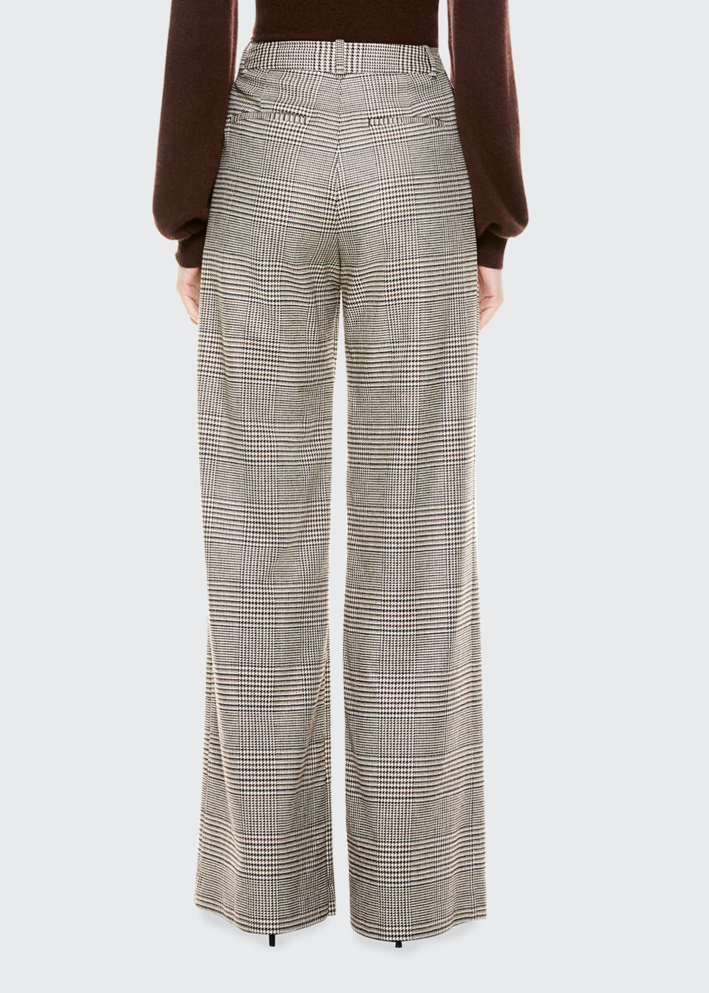 Image 4 of 4: Eric High-Waist Front Pleat Check Pants