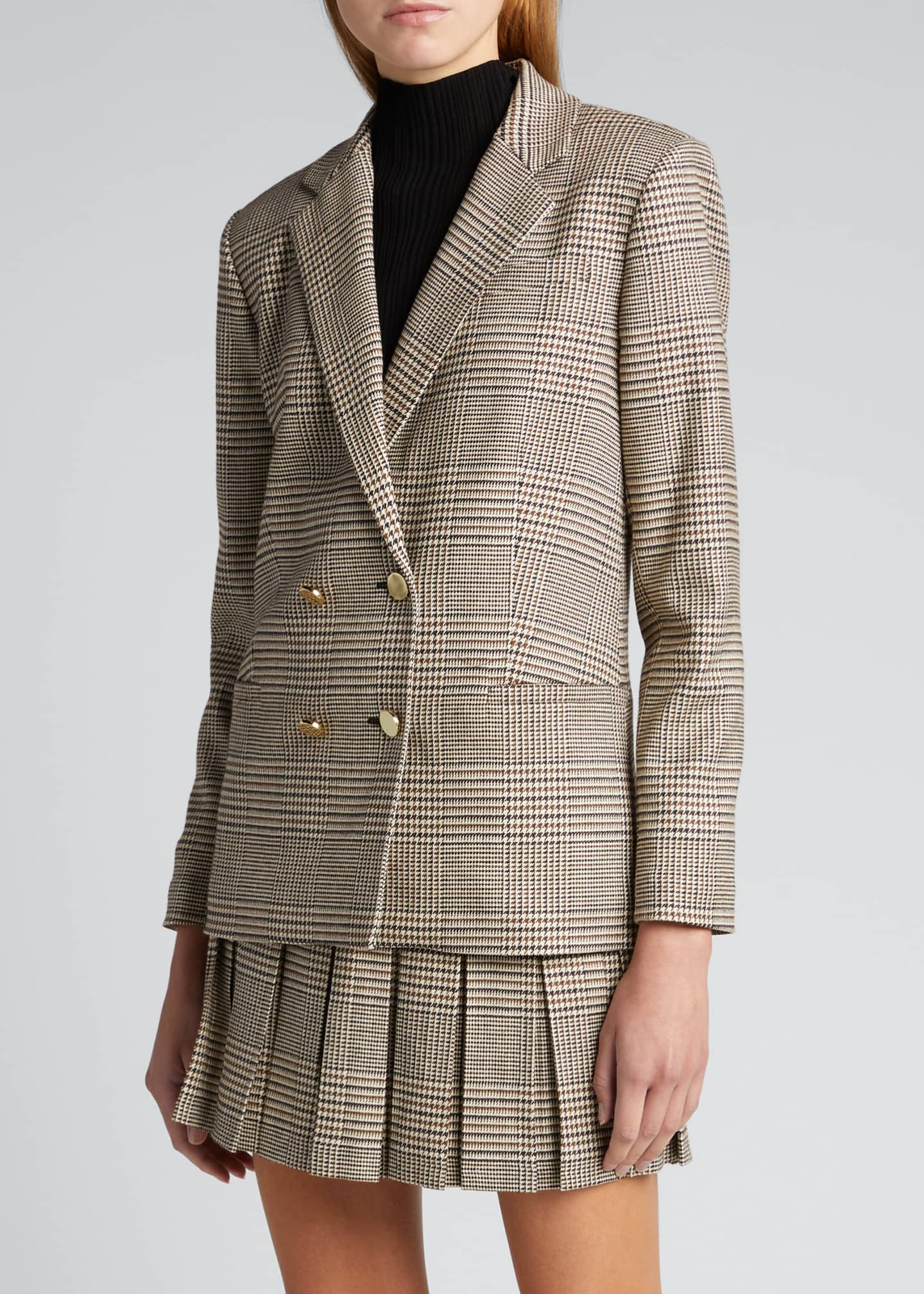 Image 3 of 4: Bergen Double-Breasted Loose Blazer
