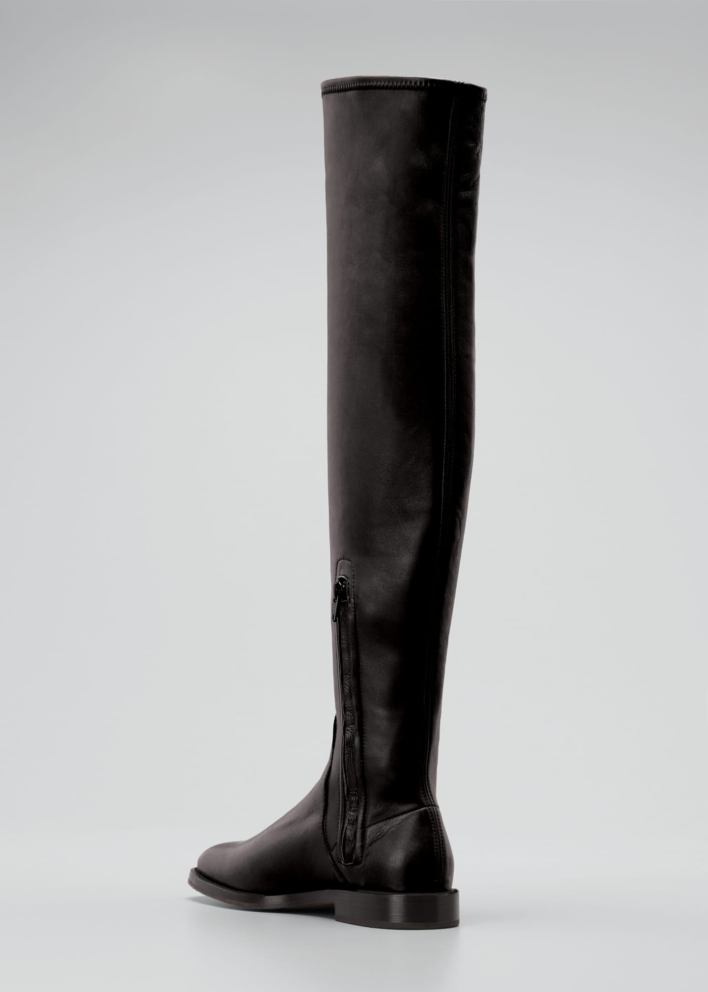 Image 2 of 3: Leather Over-the-Knee Riding Boots