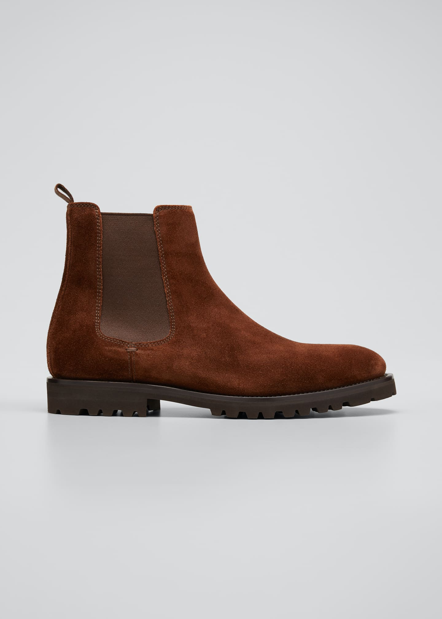 Image 1 of 3: Men's Suede Chelsea Boots