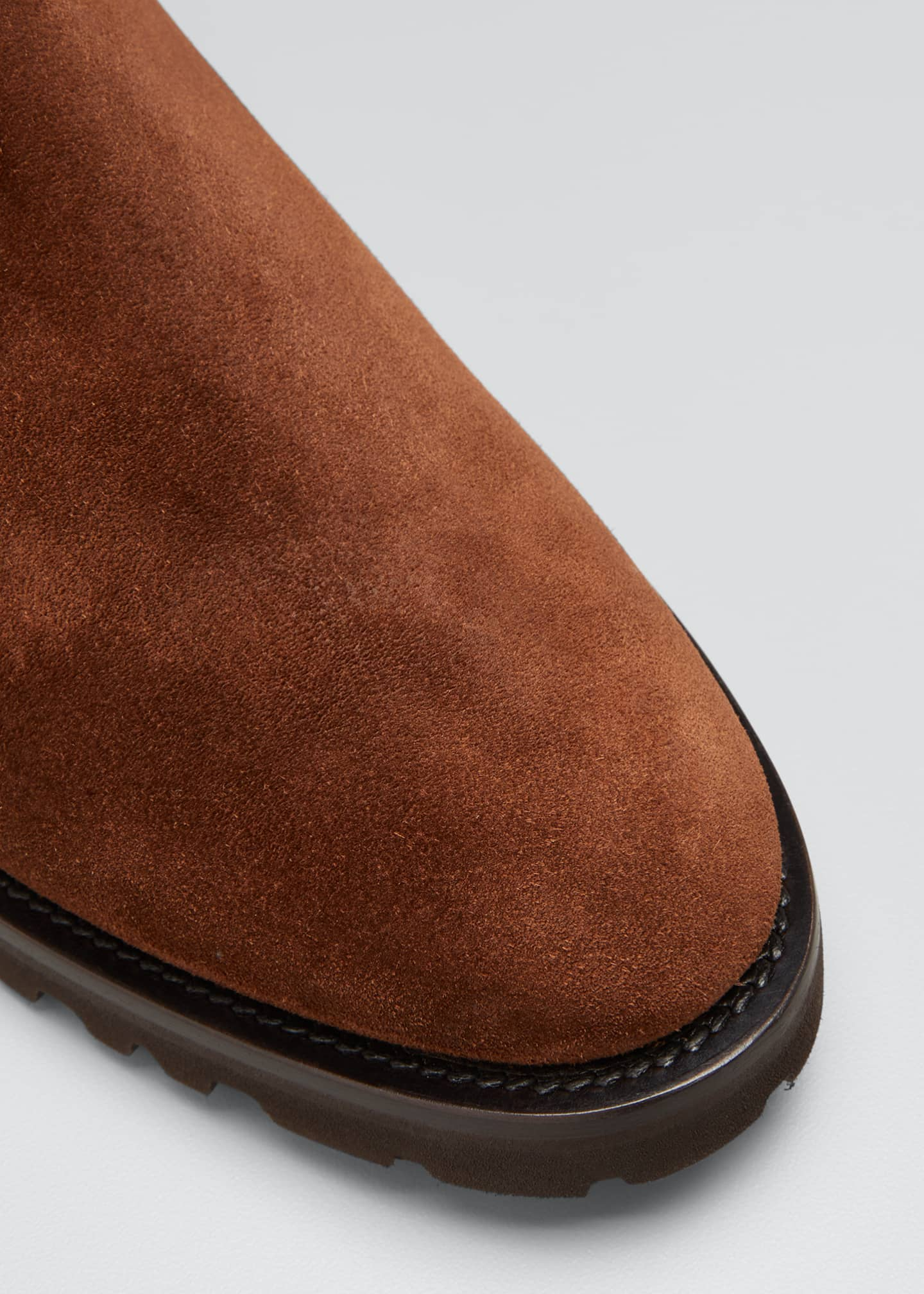 Image 3 of 3: Men's Suede Chelsea Boots