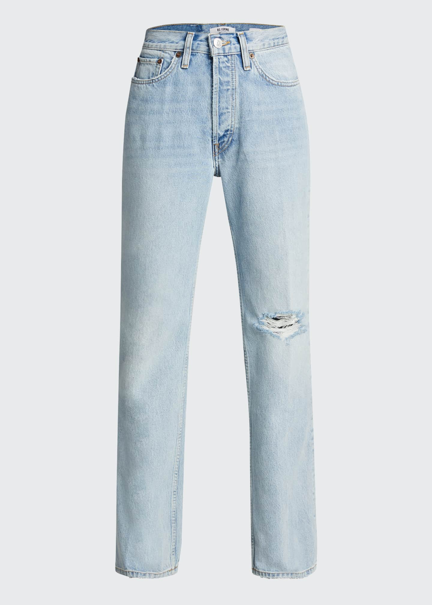 Image 5 of 5: 70s Distressed Boot-Cut Jeans