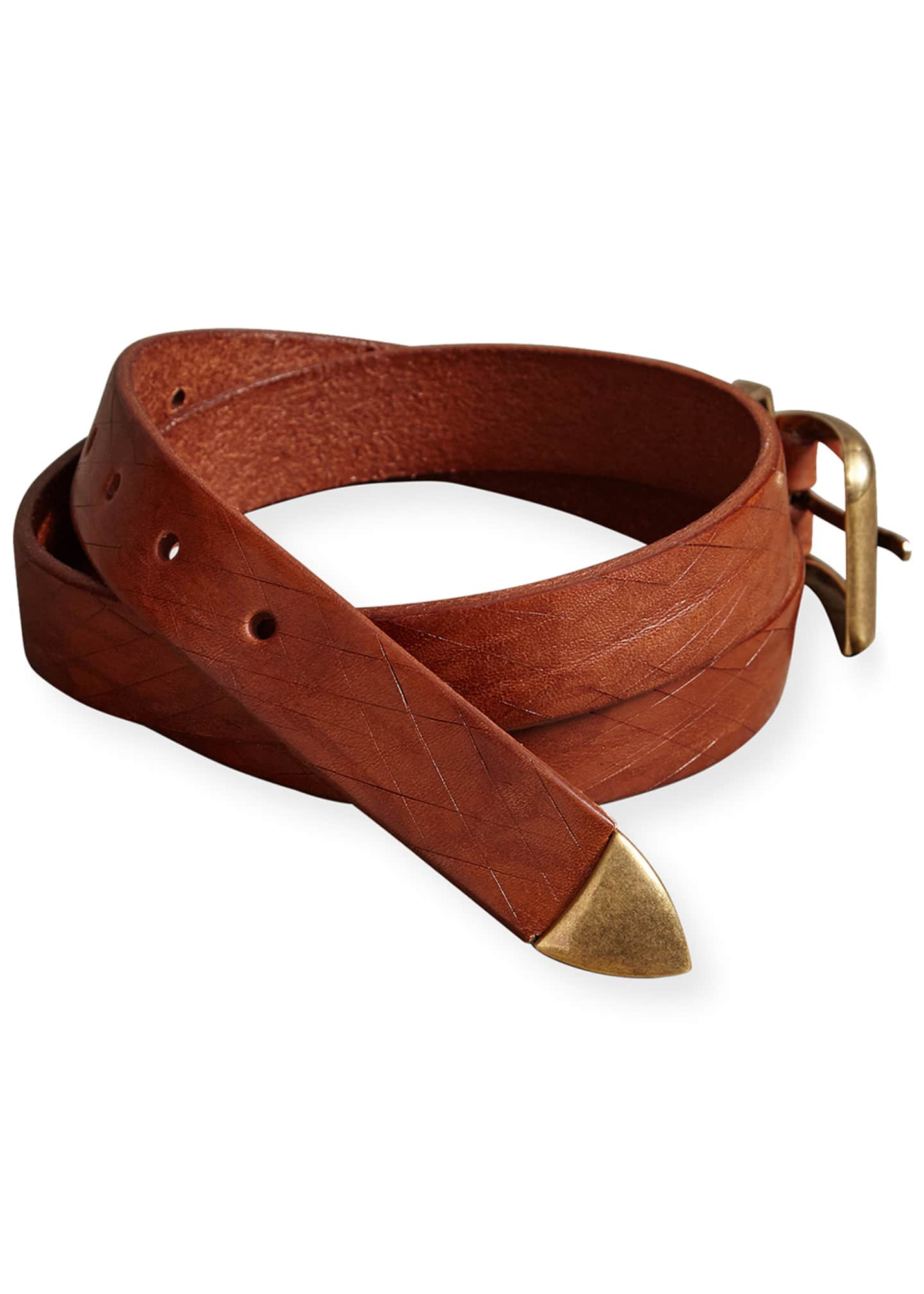 Image 2 of 2: Men's Textured Leather Belt