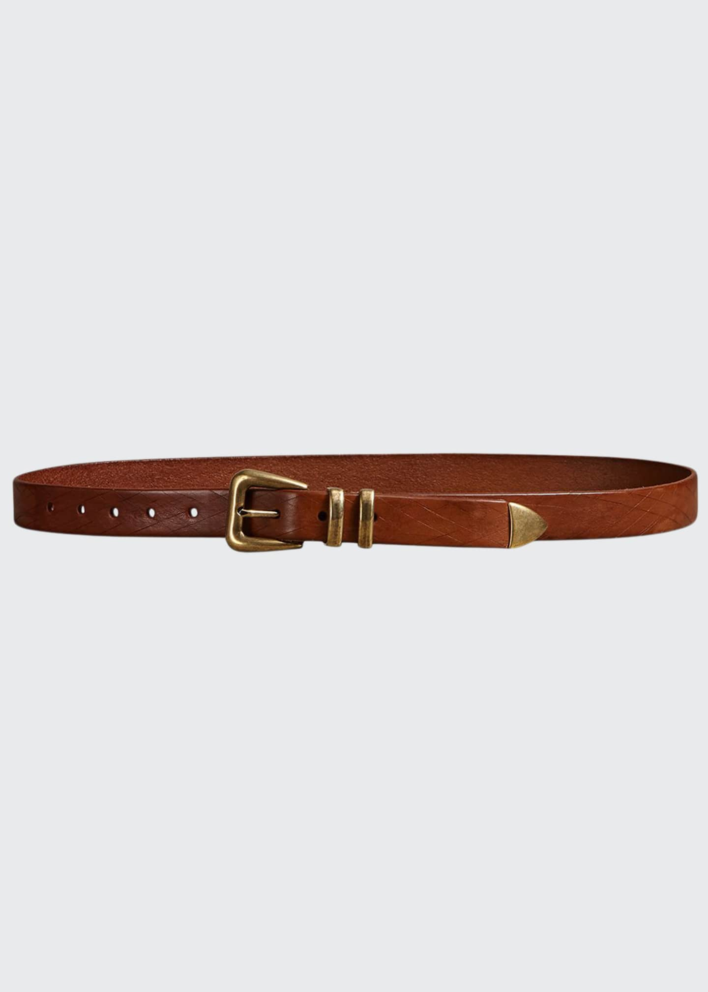 Image 1 of 2: Men's Textured Leather Belt