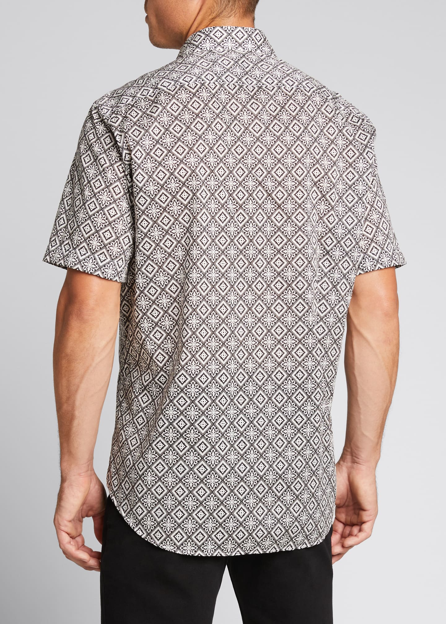 Image 2 of 5: Men's Bandana-Print Sport Shirt