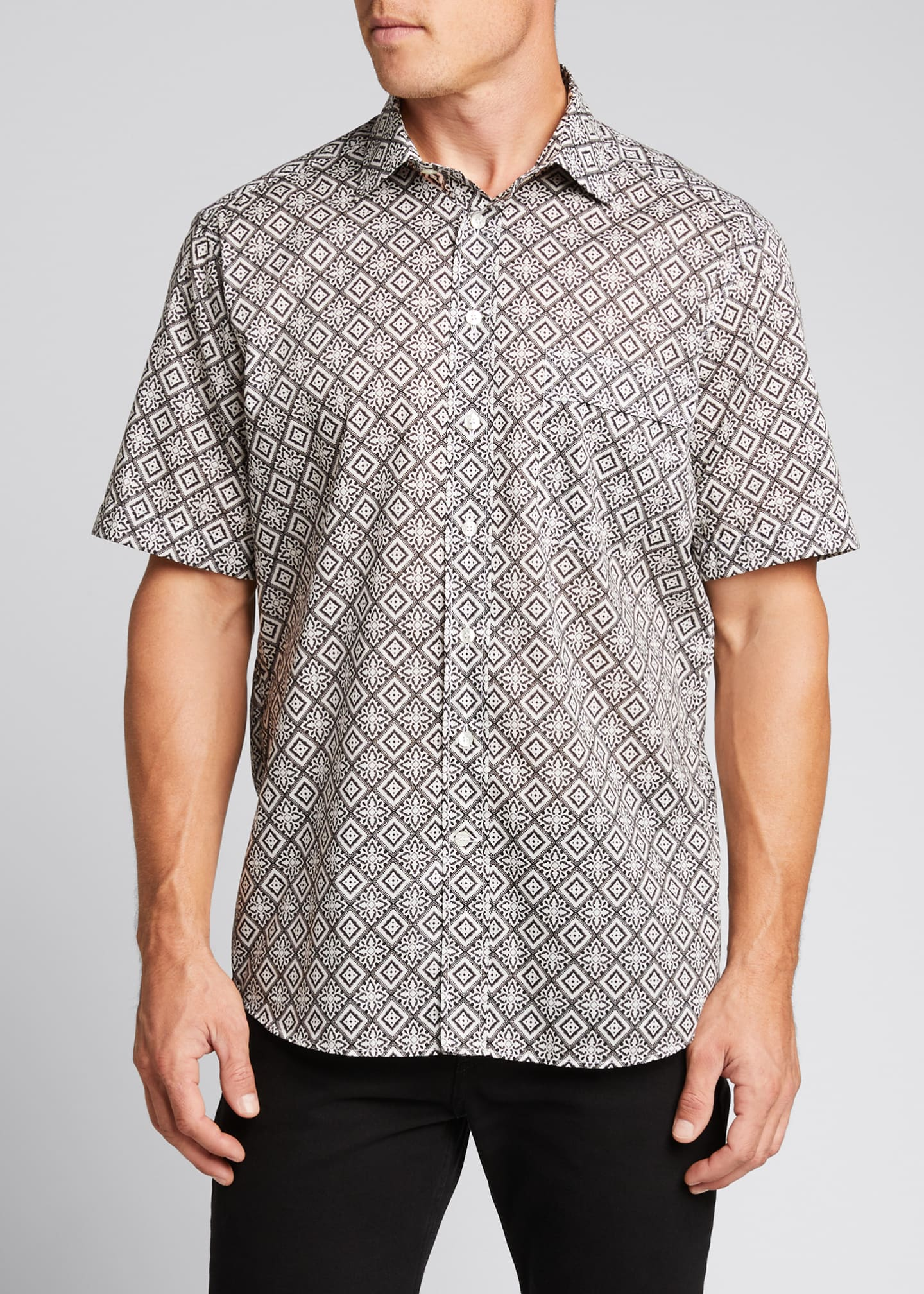 Image 3 of 5: Men's Bandana-Print Sport Shirt