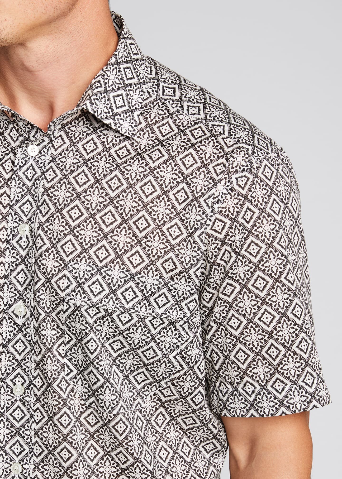 Image 4 of 5: Men's Bandana-Print Sport Shirt