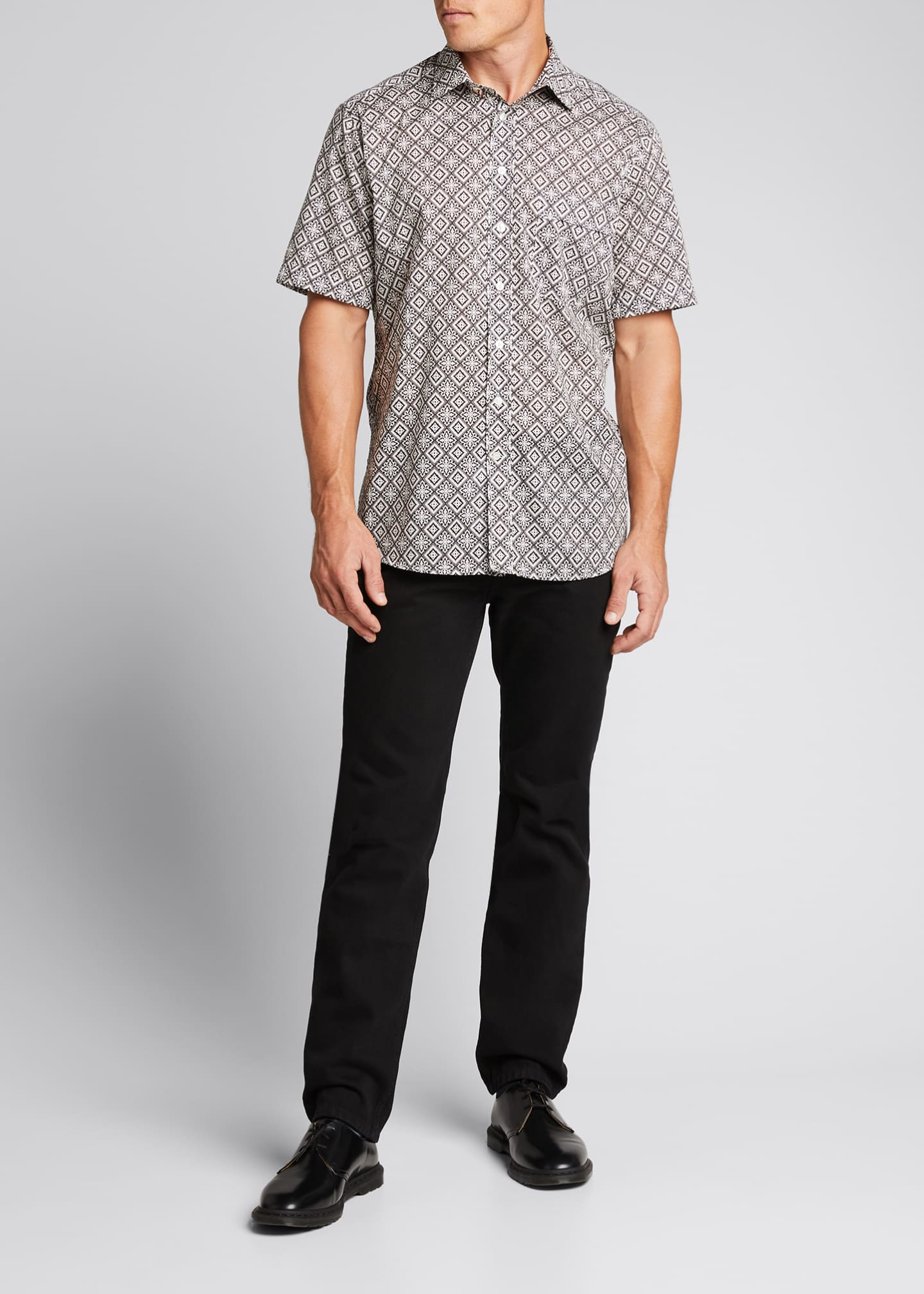 Image 1 of 5: Men's Bandana-Print Sport Shirt