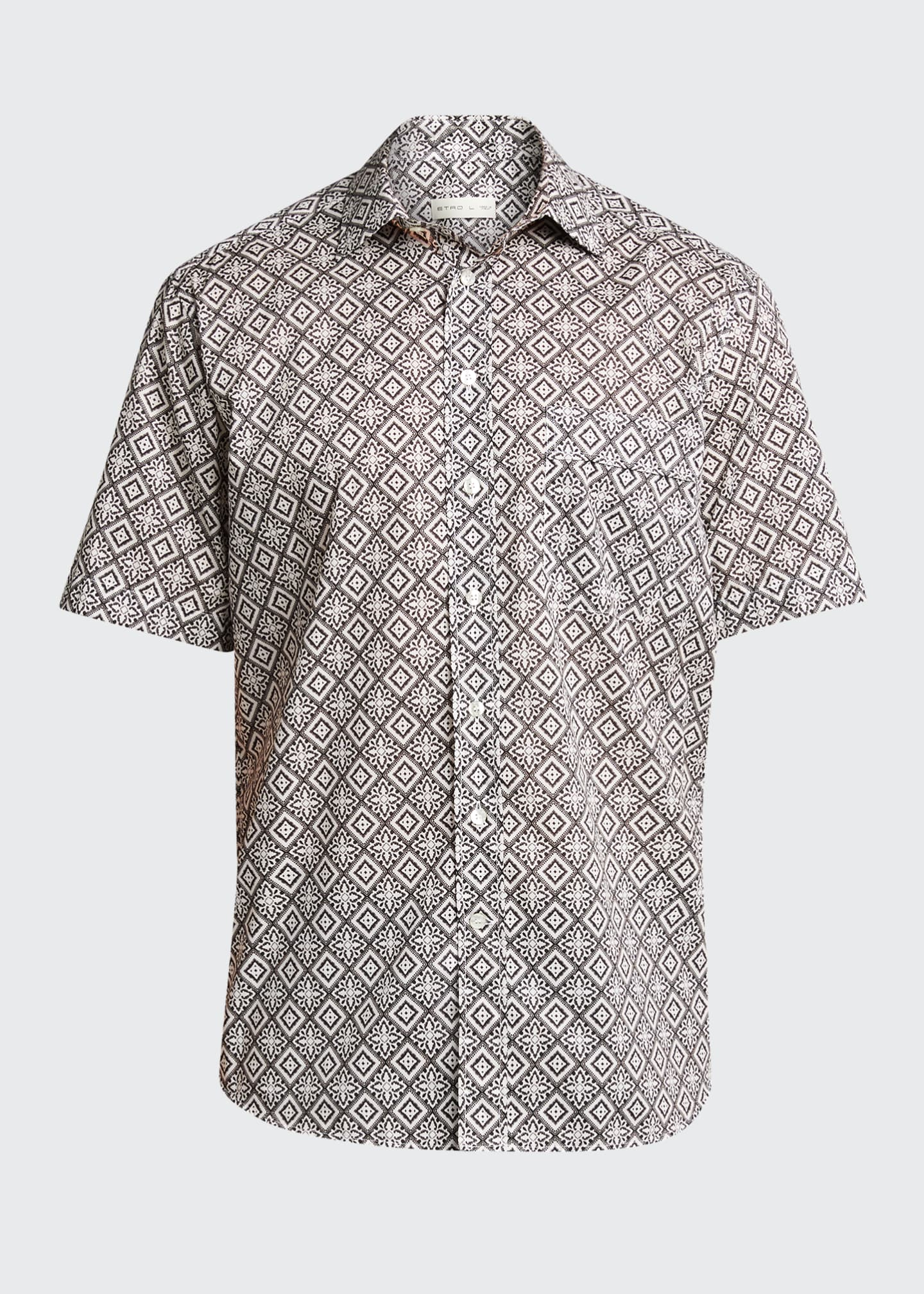 Image 5 of 5: Men's Bandana-Print Sport Shirt