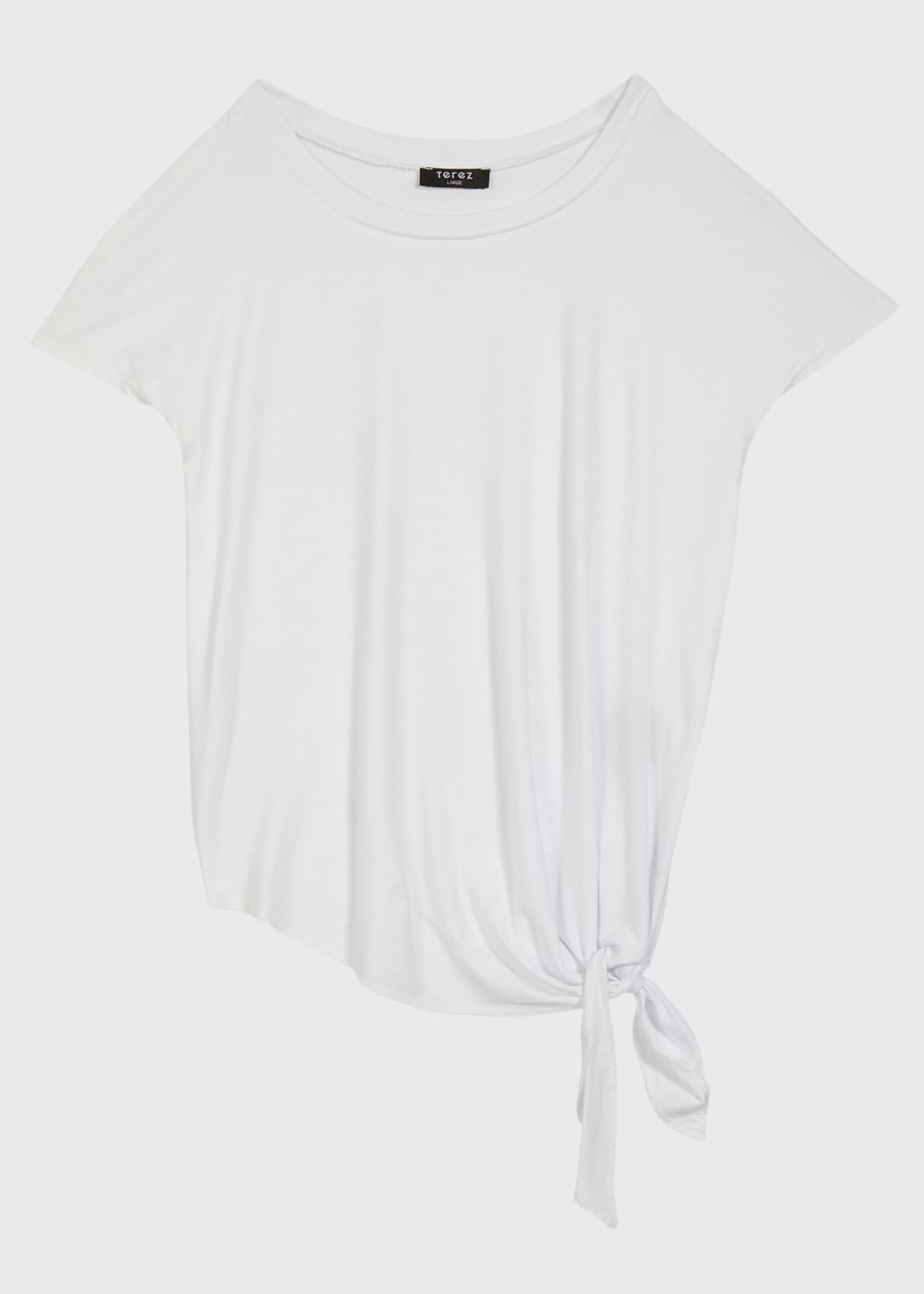 Image 1 of 1: Girl's Side-Tie Jersey Tee, Size 7-16