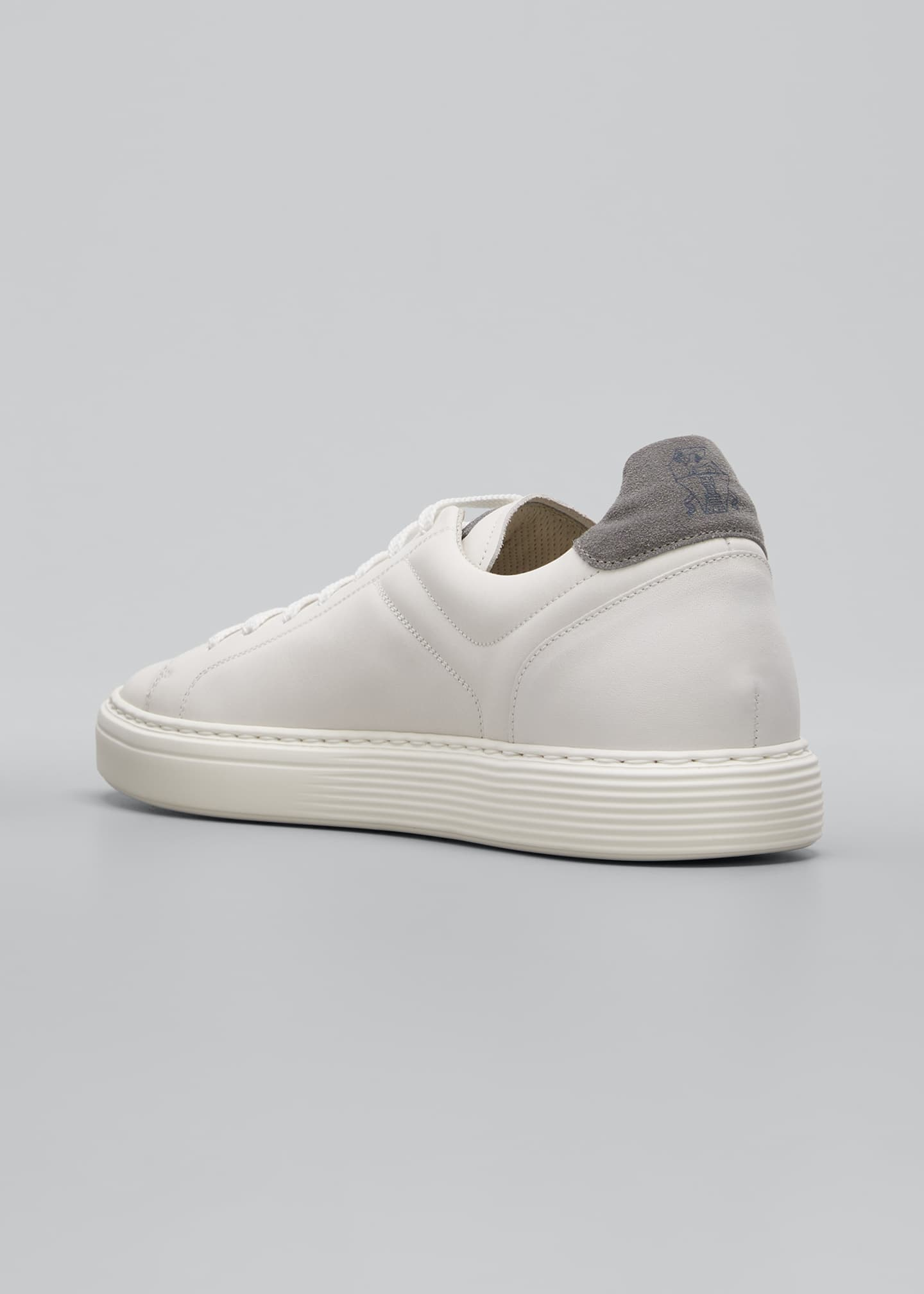 Image 2 of 3: Men's Leather Cup-Sole Low-Top Sneakers