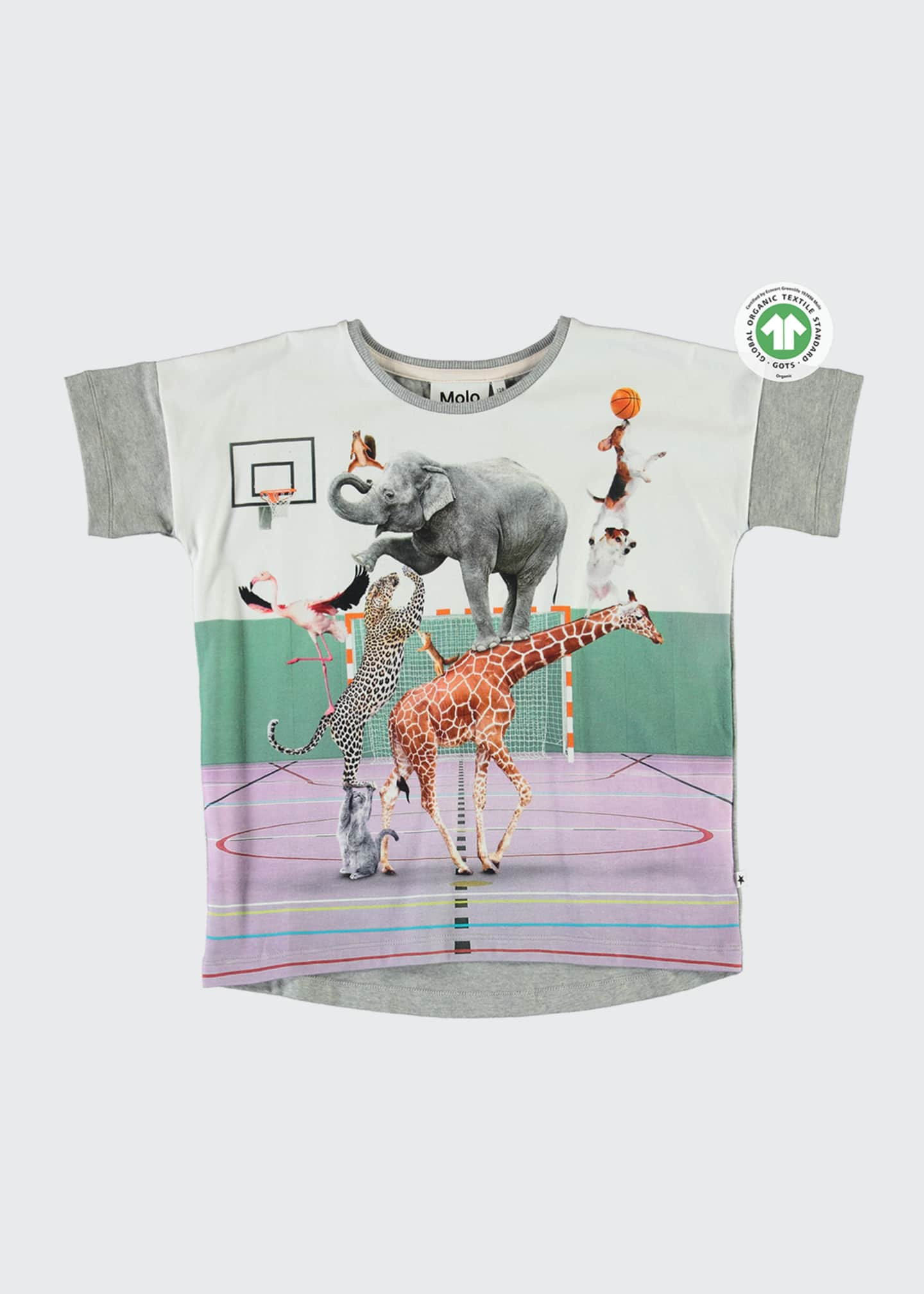 Image 1 of 2: Raeesa Animal Pyramid Graphic T-Shirt, Size 3-10