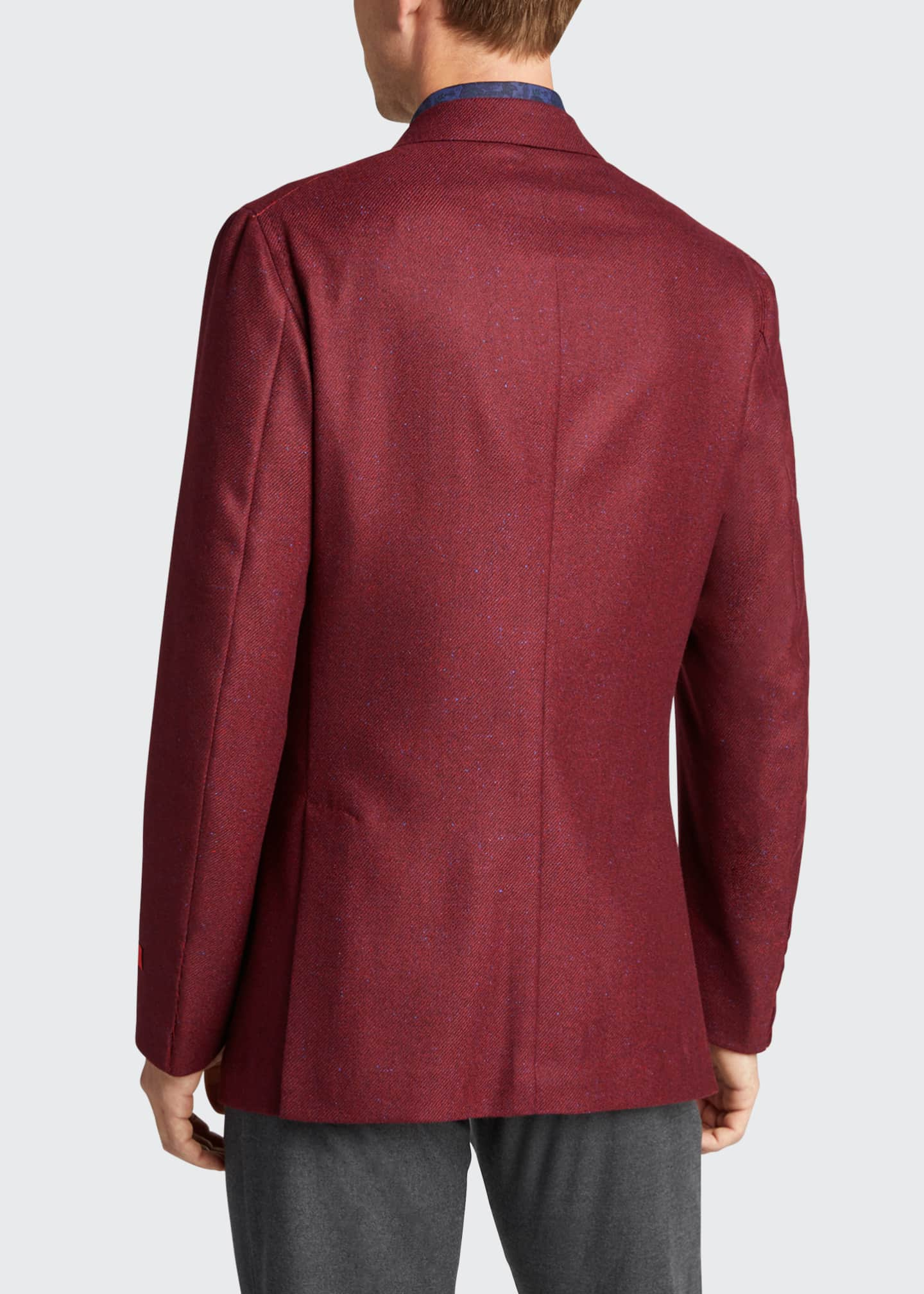 Image 2 of 5: Men's Cashmere-Silk Donegal Blazer