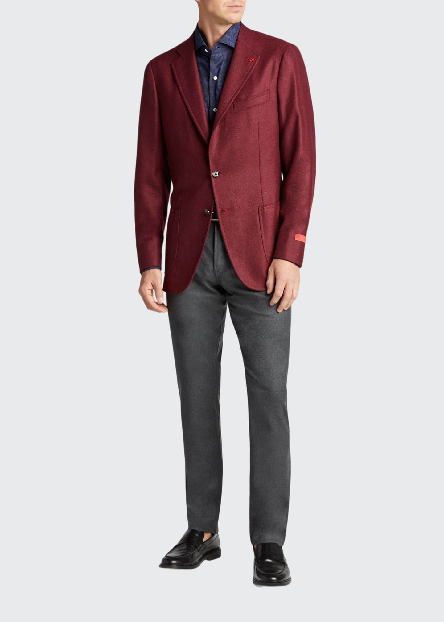 Image 1 of 5: Men's Cashmere-Silk Donegal Blazer